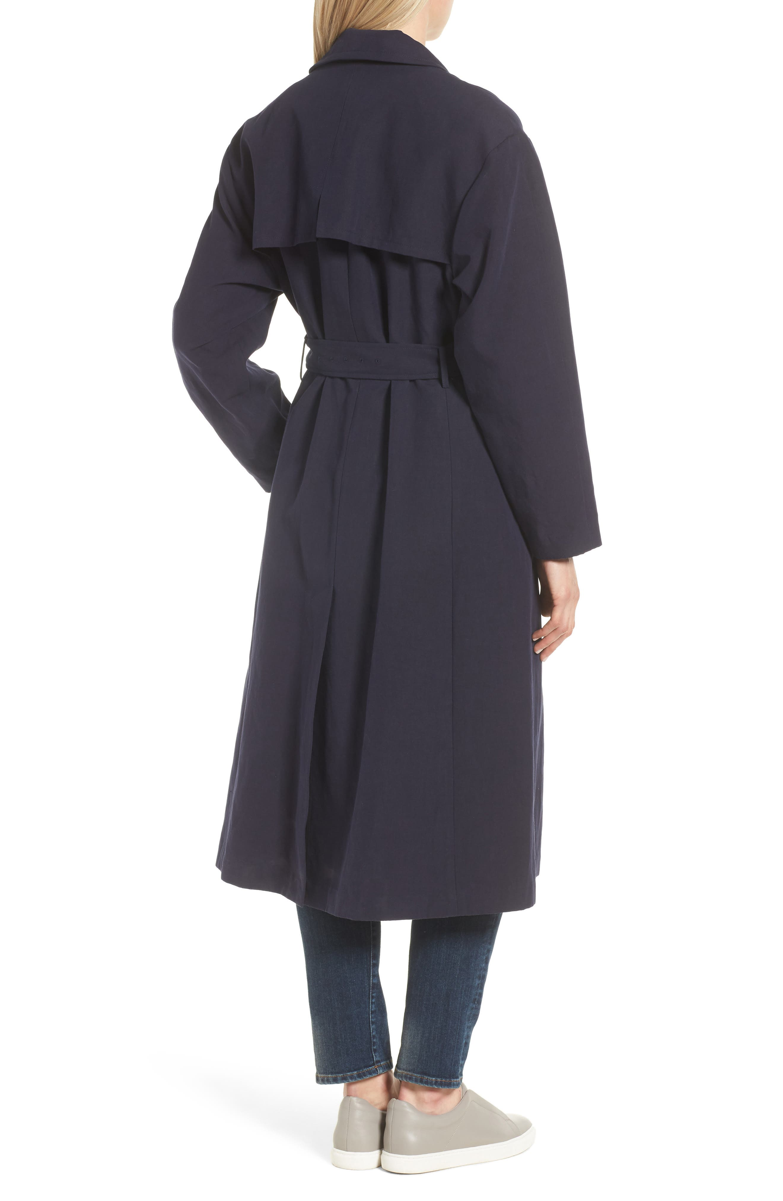 Alternate Image 2  - Cole Haan Double Face Wrap Maxi Jacket
