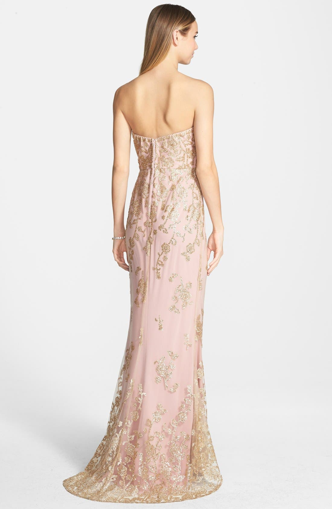 'Autumn' Strapless Gown,                             Alternate thumbnail 2, color,                             Blush As Sampled