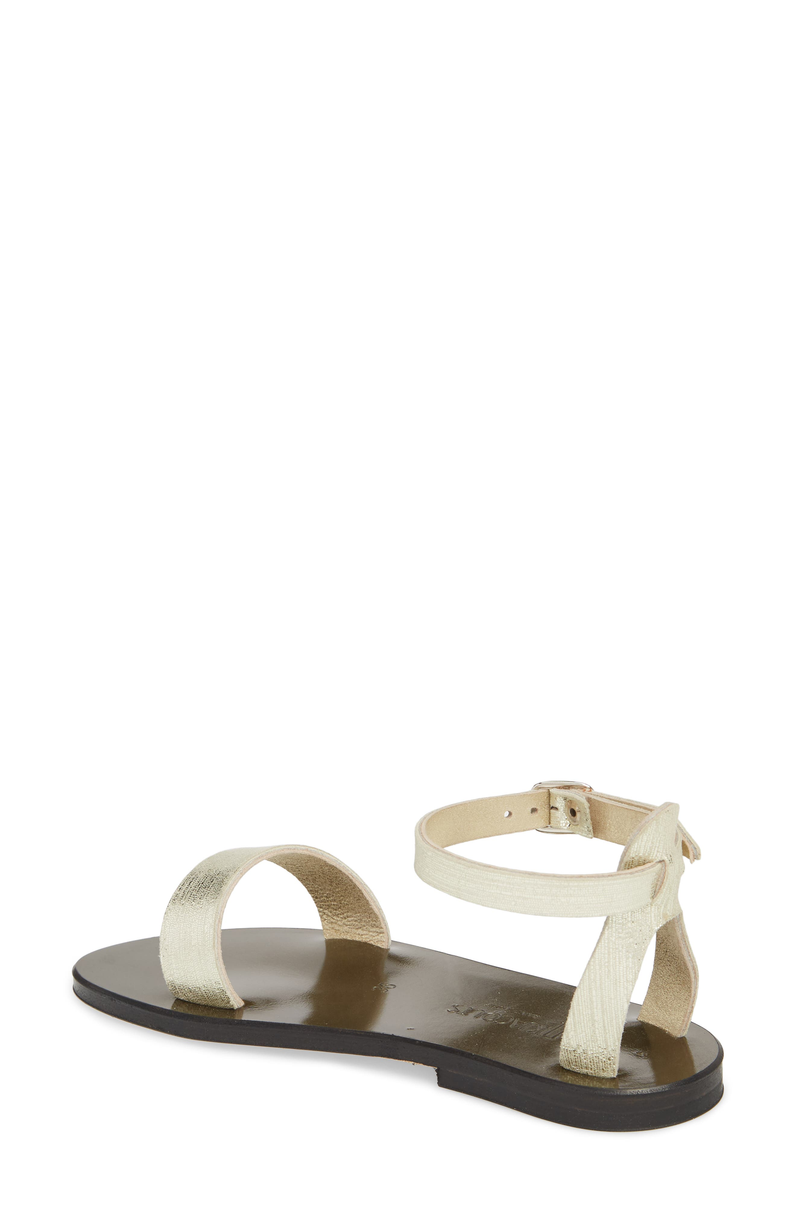Pampa Sandal,                             Alternate thumbnail 2, color,                             Blonde / Platine Leather