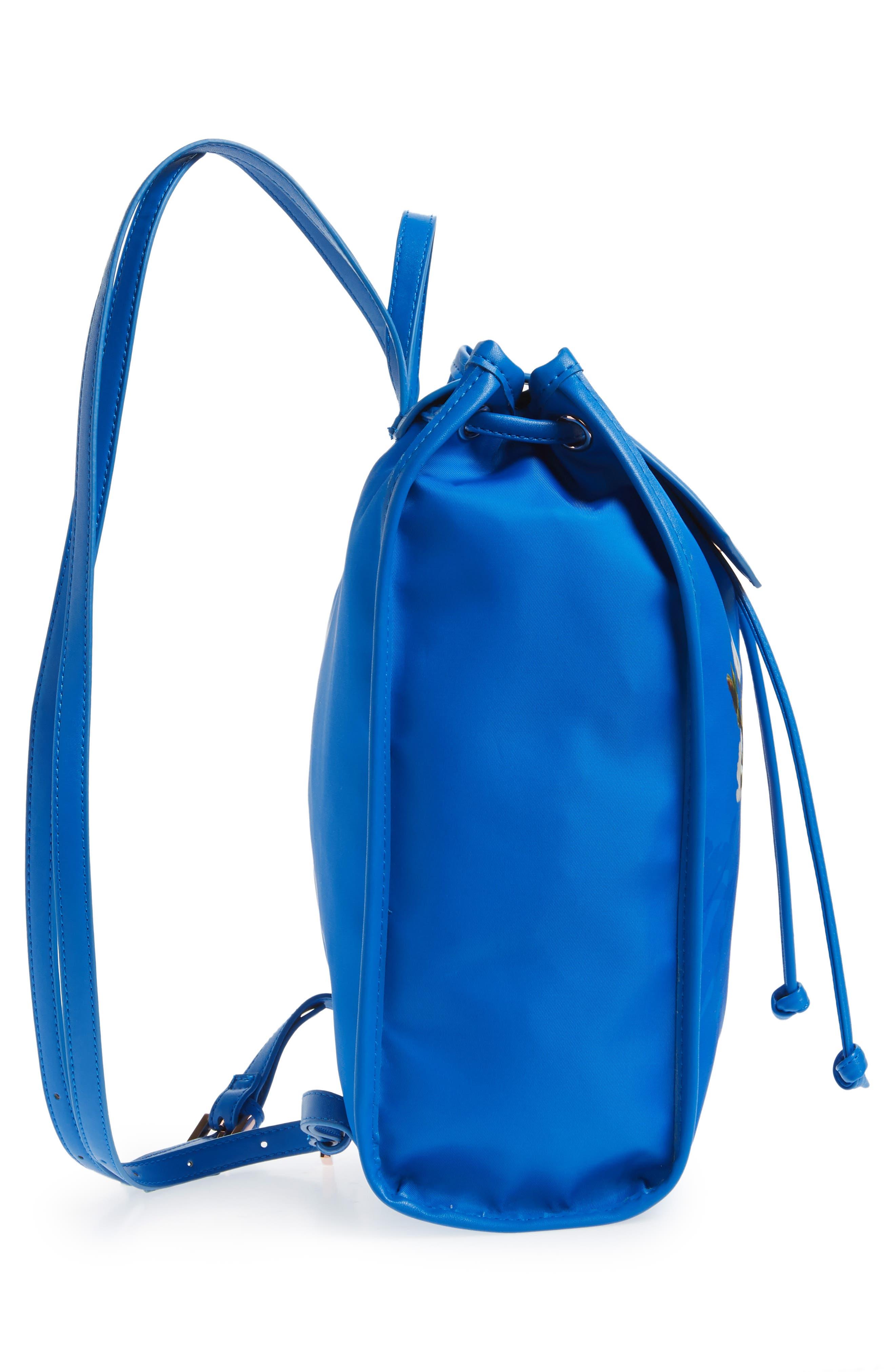 Baileee Harmony Print Backpack,                             Alternate thumbnail 5, color,                             Bright Blue