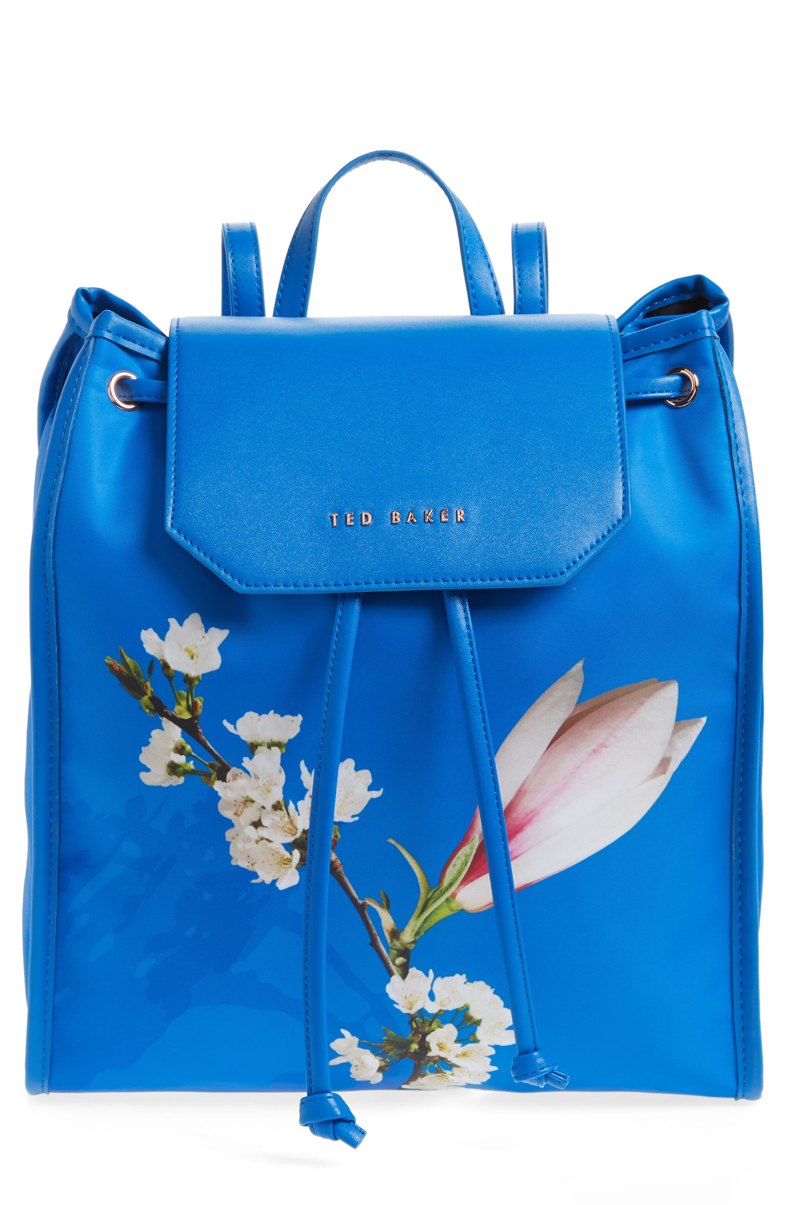 Baileee Harmony Print Backpack,                         Main,                         color, Bright Blue