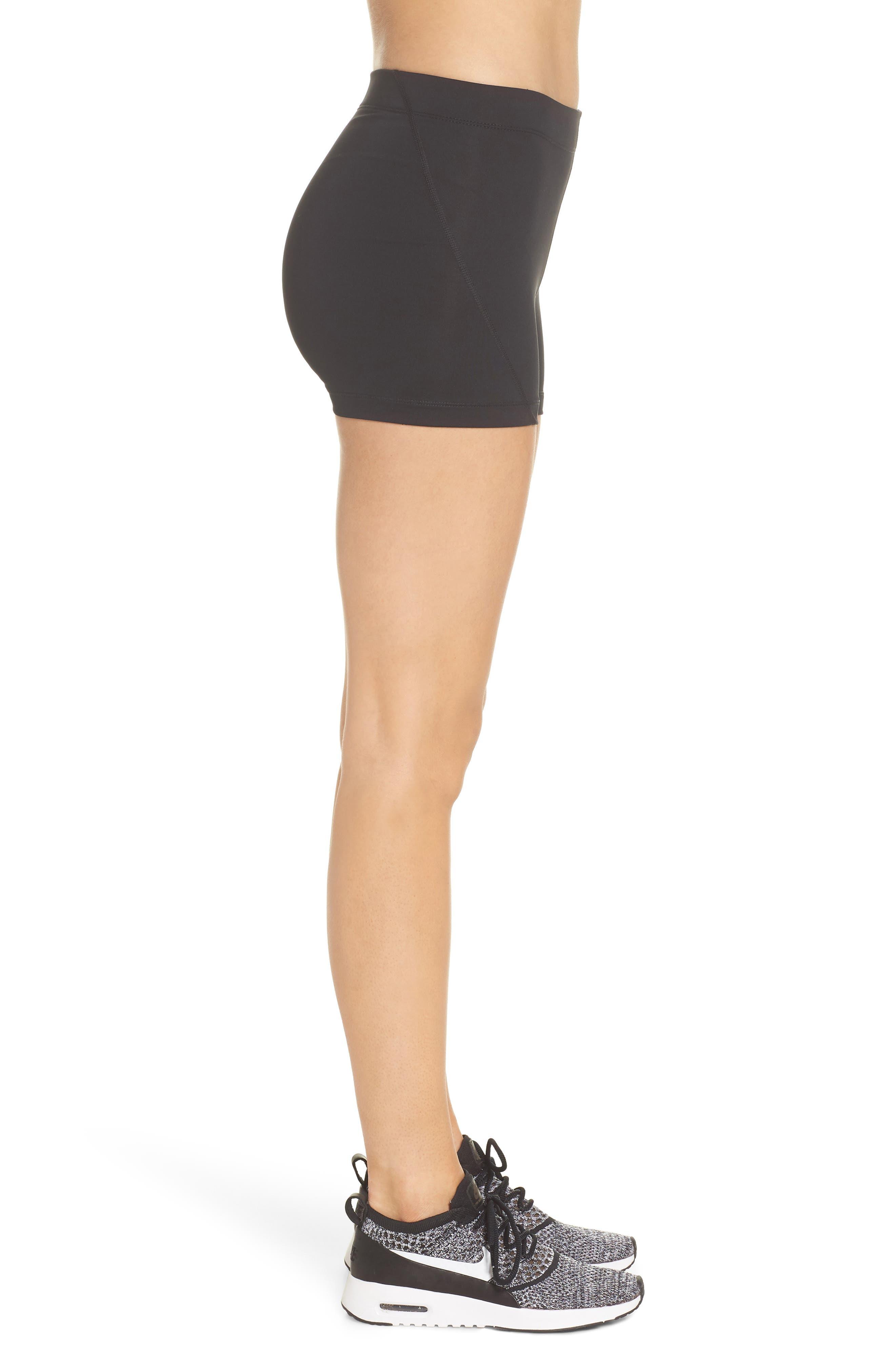 Pro Short Shorts,                             Alternate thumbnail 3, color,                             Black/ White