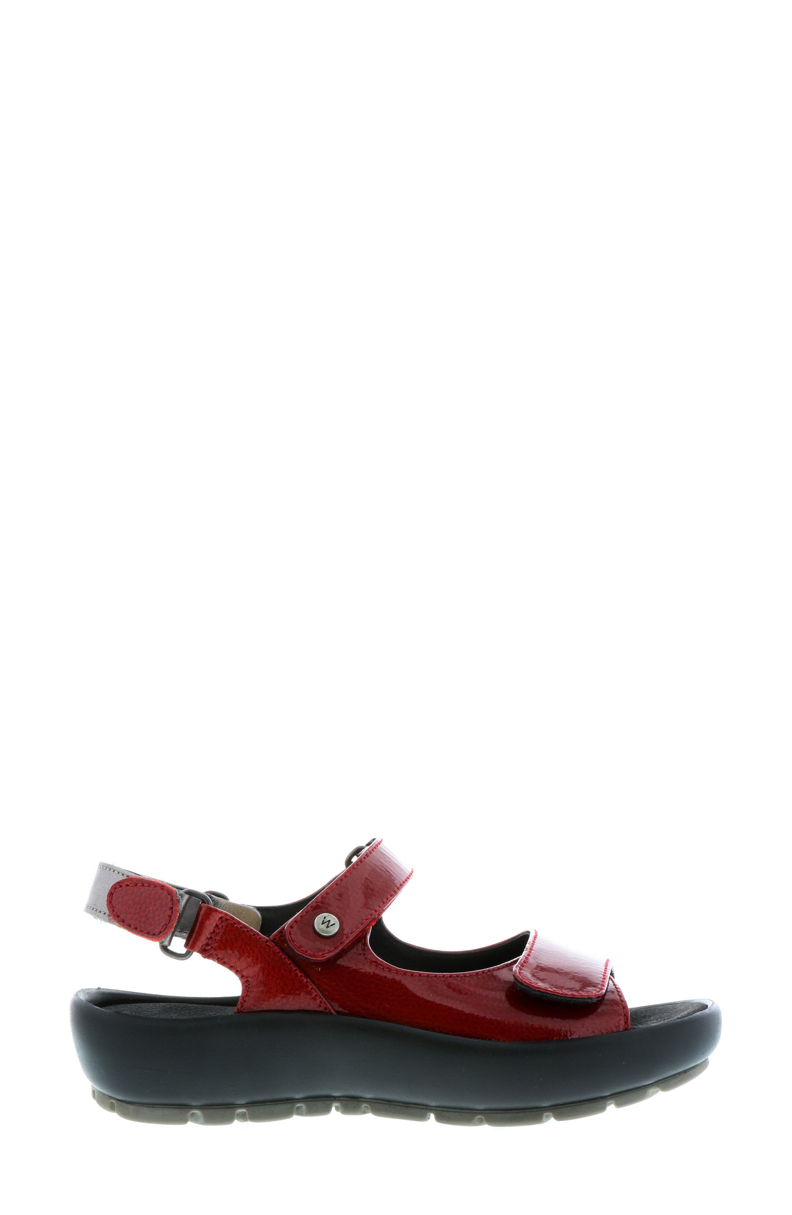 Rio Sandal,                             Alternate thumbnail 3, color,                             Red Patent Leather