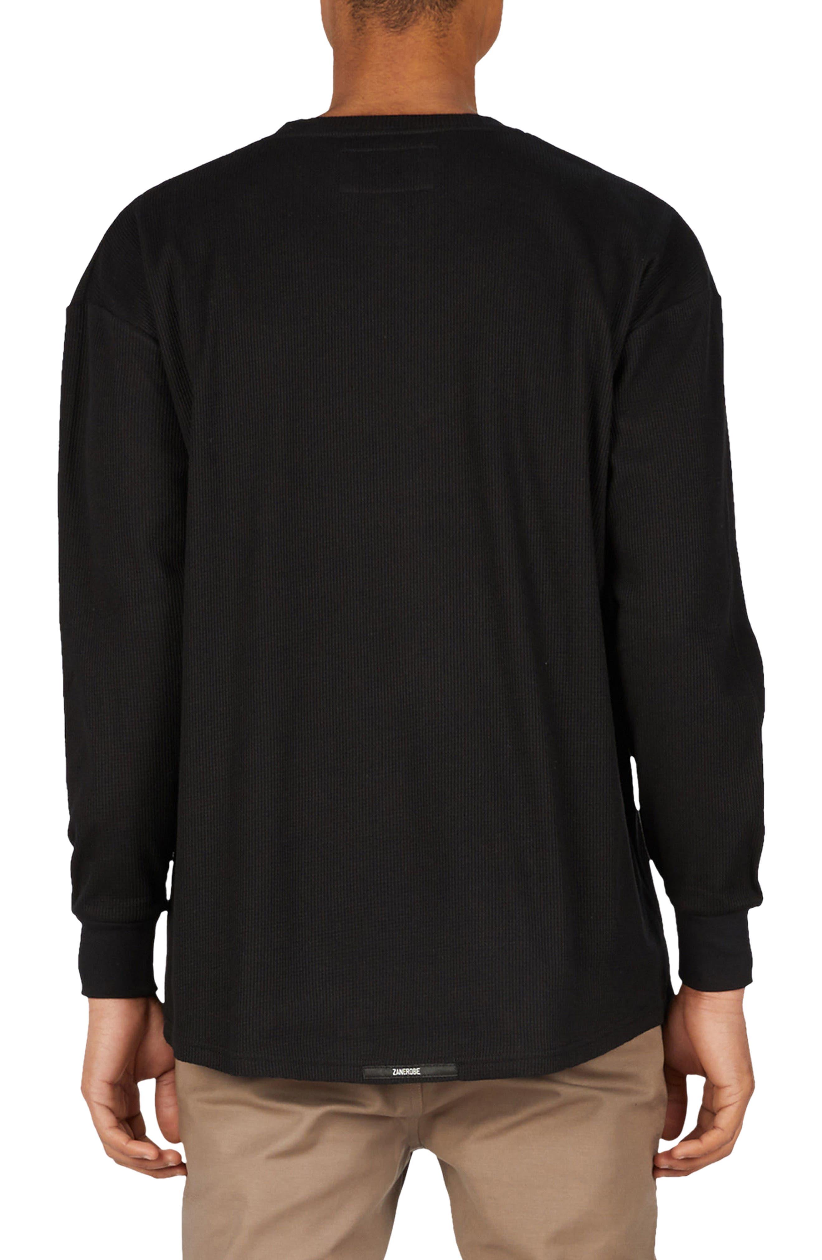 Waffle Rugger T-Shirt,                             Alternate thumbnail 2, color,                             Black