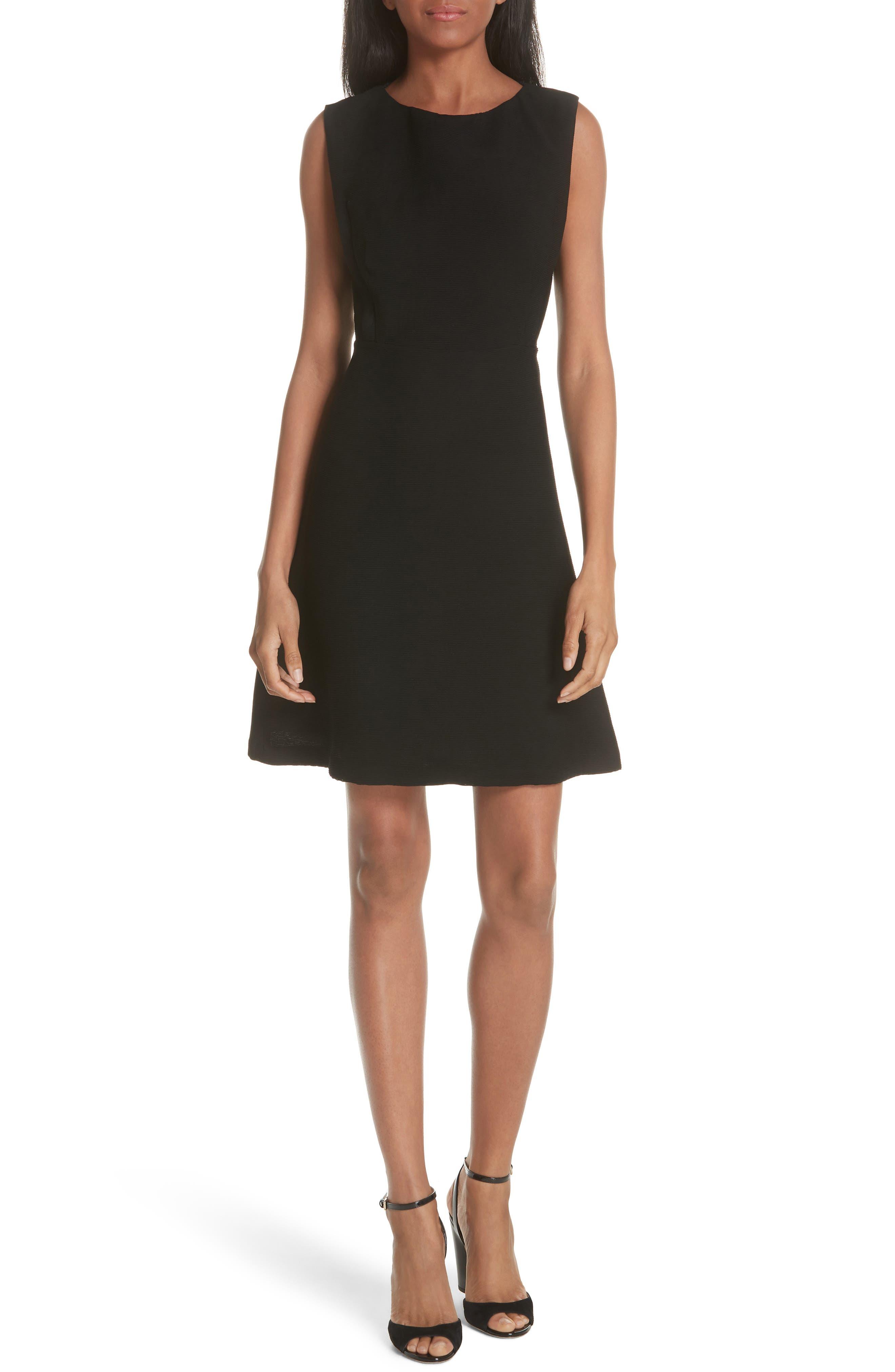 sandro Textured Sleeveless Fit & Flare Dress