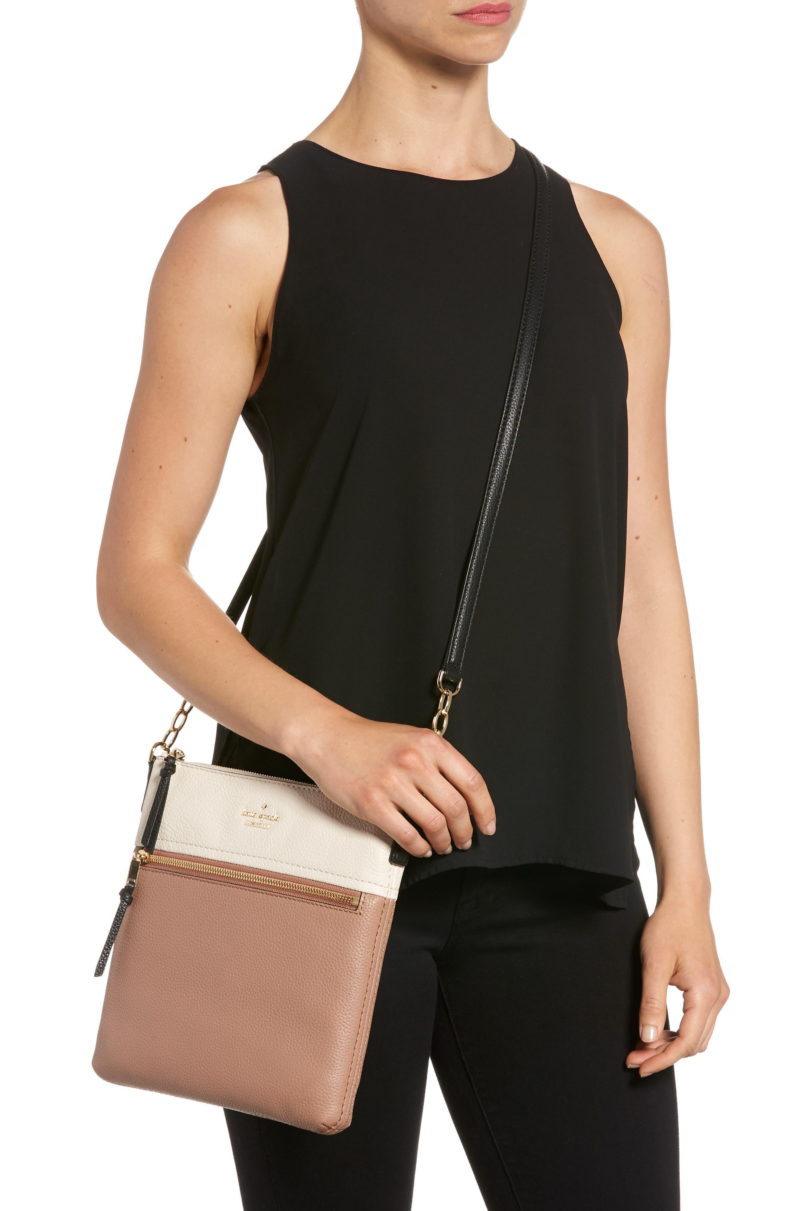 jackson street - melisse crossbody bag,                             Alternate thumbnail 2, color,                             Black/ Toasty Multi