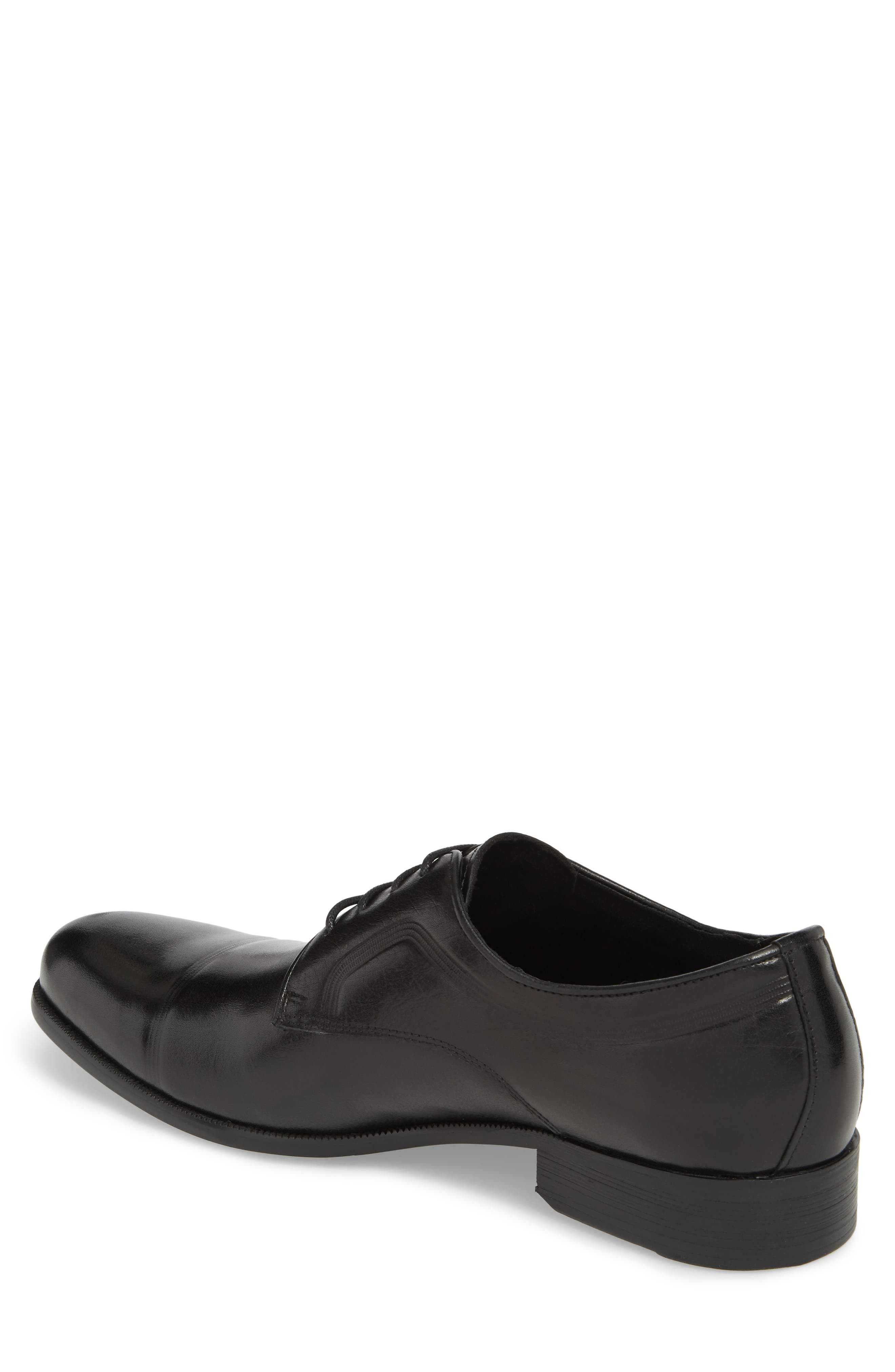 Chief Cap Toe Derby,                             Alternate thumbnail 2, color,                             Black Leather