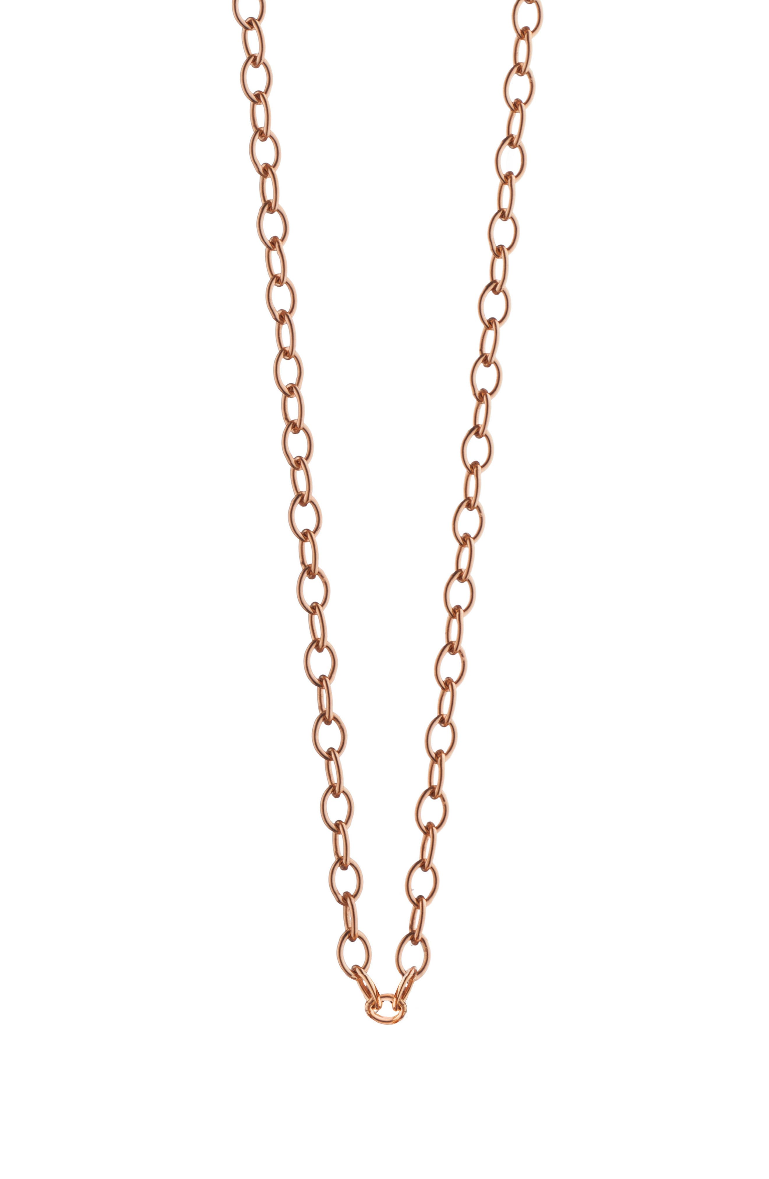 Oval Link 18K Gold Chain,                             Main thumbnail 1, color,                             18K Rose Gold