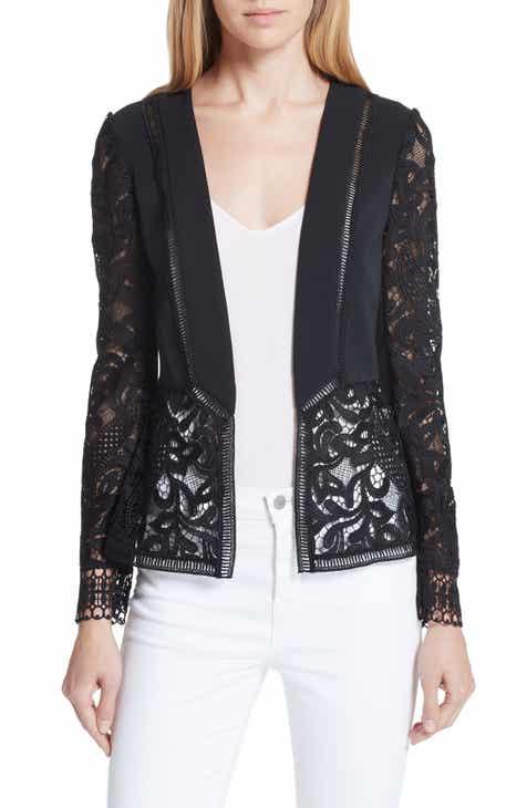 Ted Baker London Liela Sheer Lace Panel Jacket
