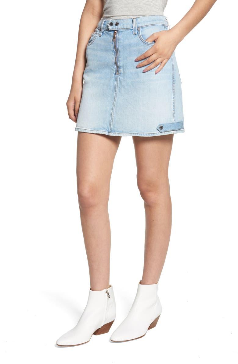 A-Line Moto Miniskirt
