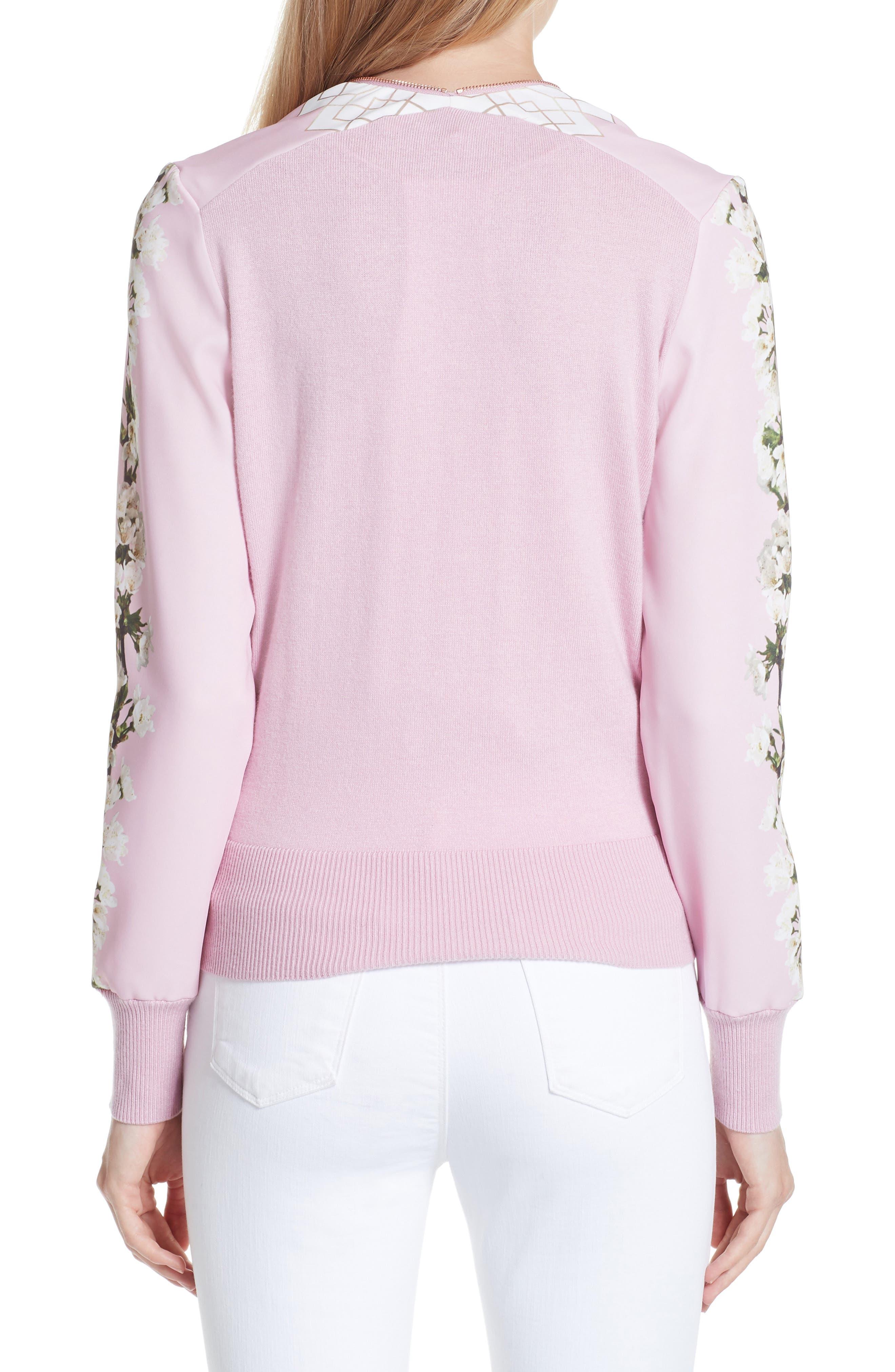 Emylou Harmony Bomber Jacket,                             Alternate thumbnail 2, color,                             Pale Pink