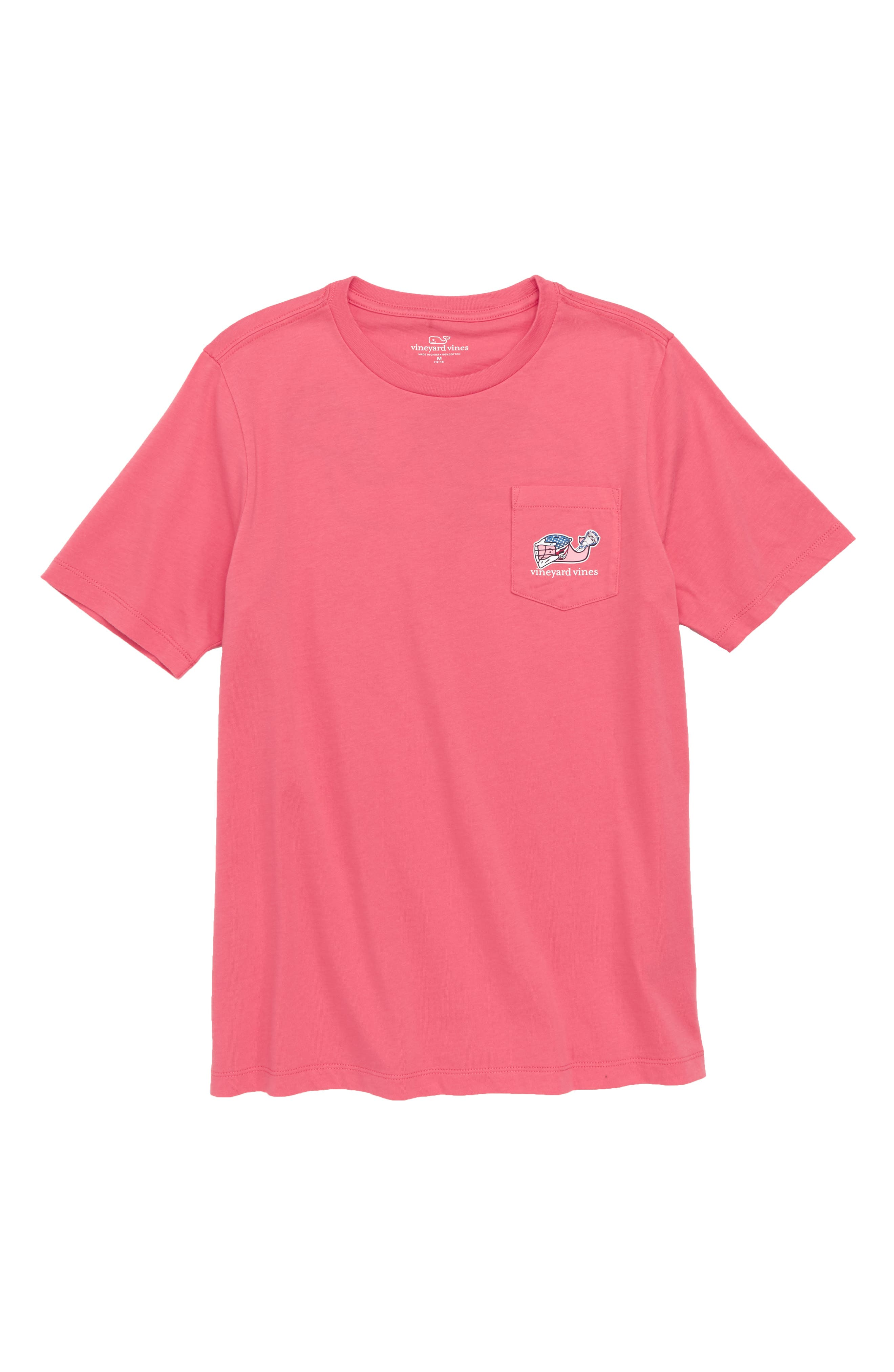 Lax Bro Whale Pocket T-Shirt,                         Main,                         color, Jetty Red