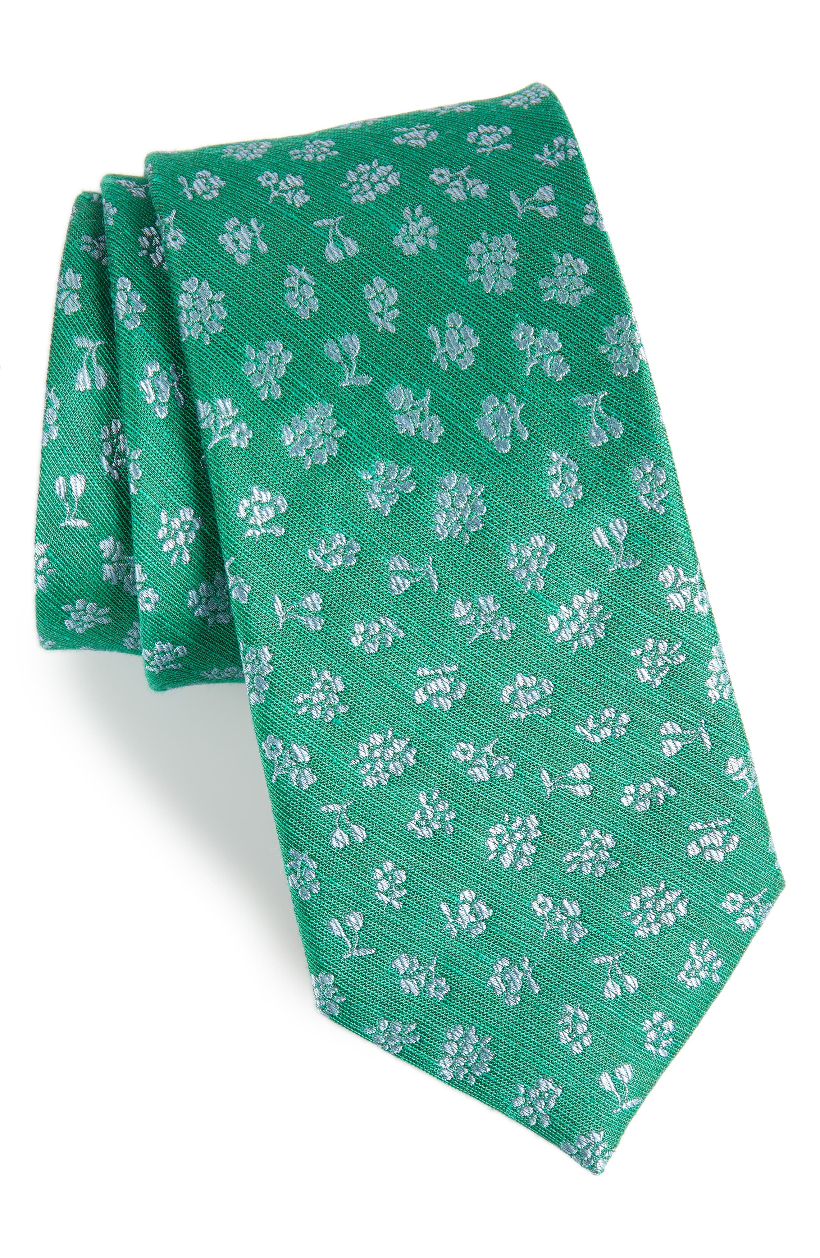 The Tie Bar Fruta Floral Silk & Linen Tie (X-Long)