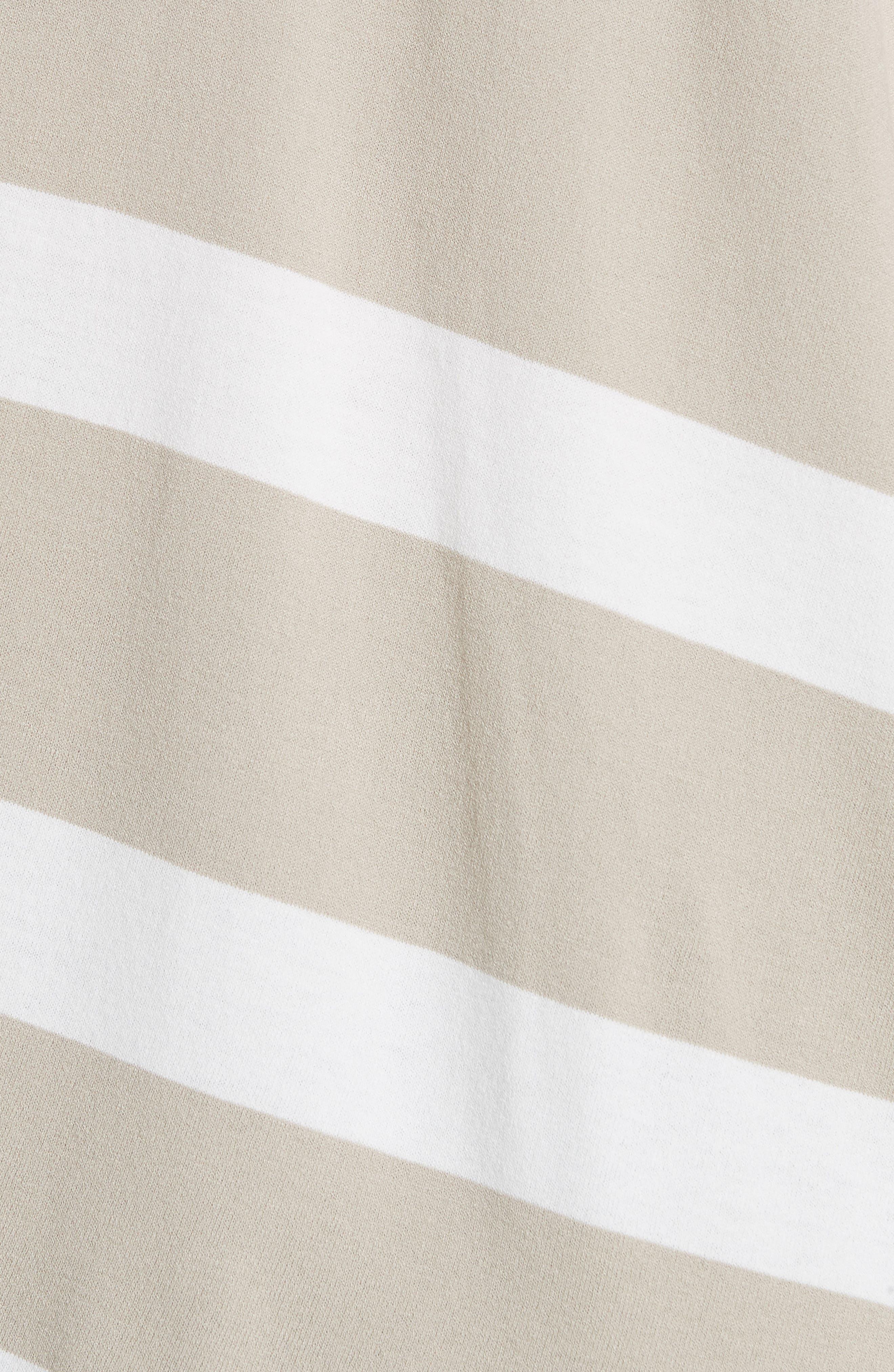 Stripe Sweater,                             Alternate thumbnail 5, color,                             Khaki/ Cloud