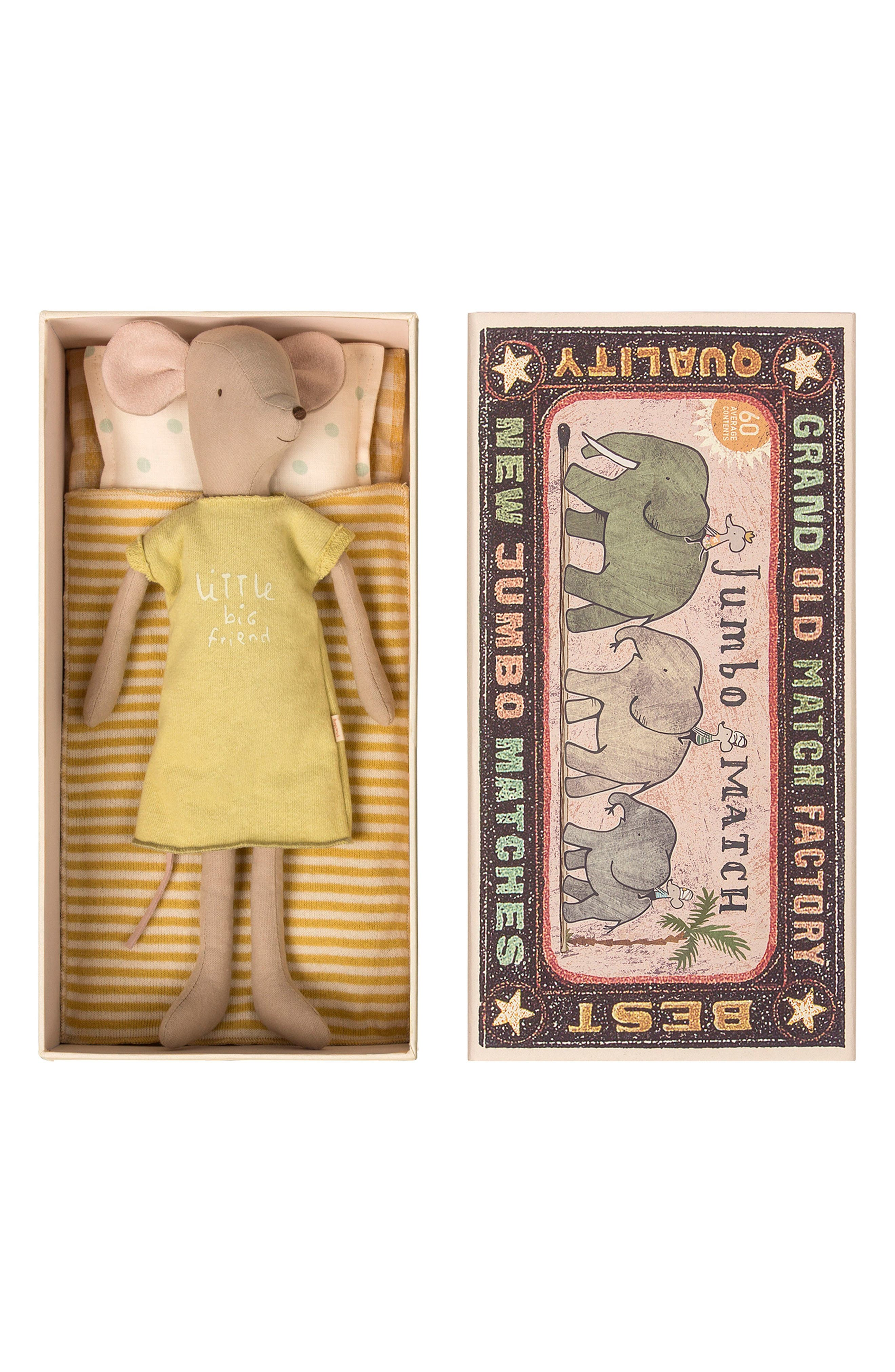 Maileg Girl Mouse in a Box Stuffed Animal