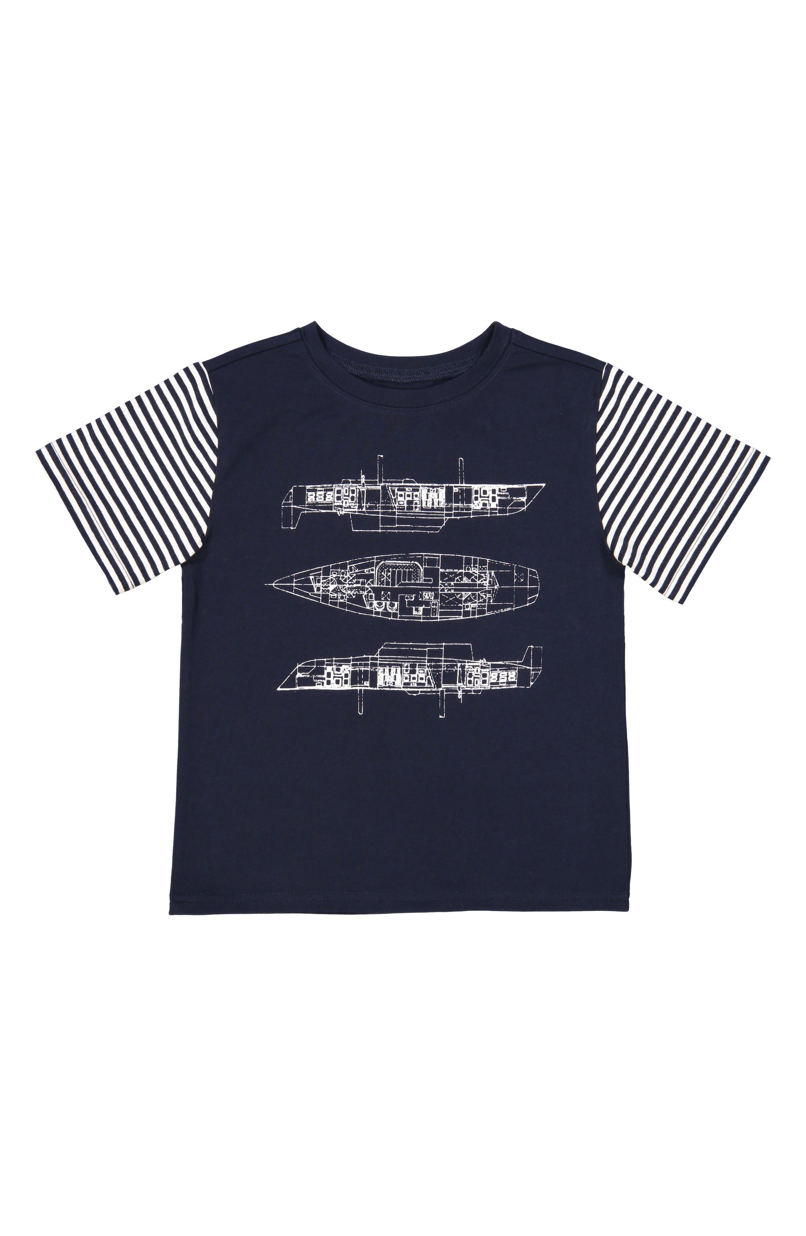 Blueprint T-Shirt,                             Main thumbnail 1, color,                             Navy