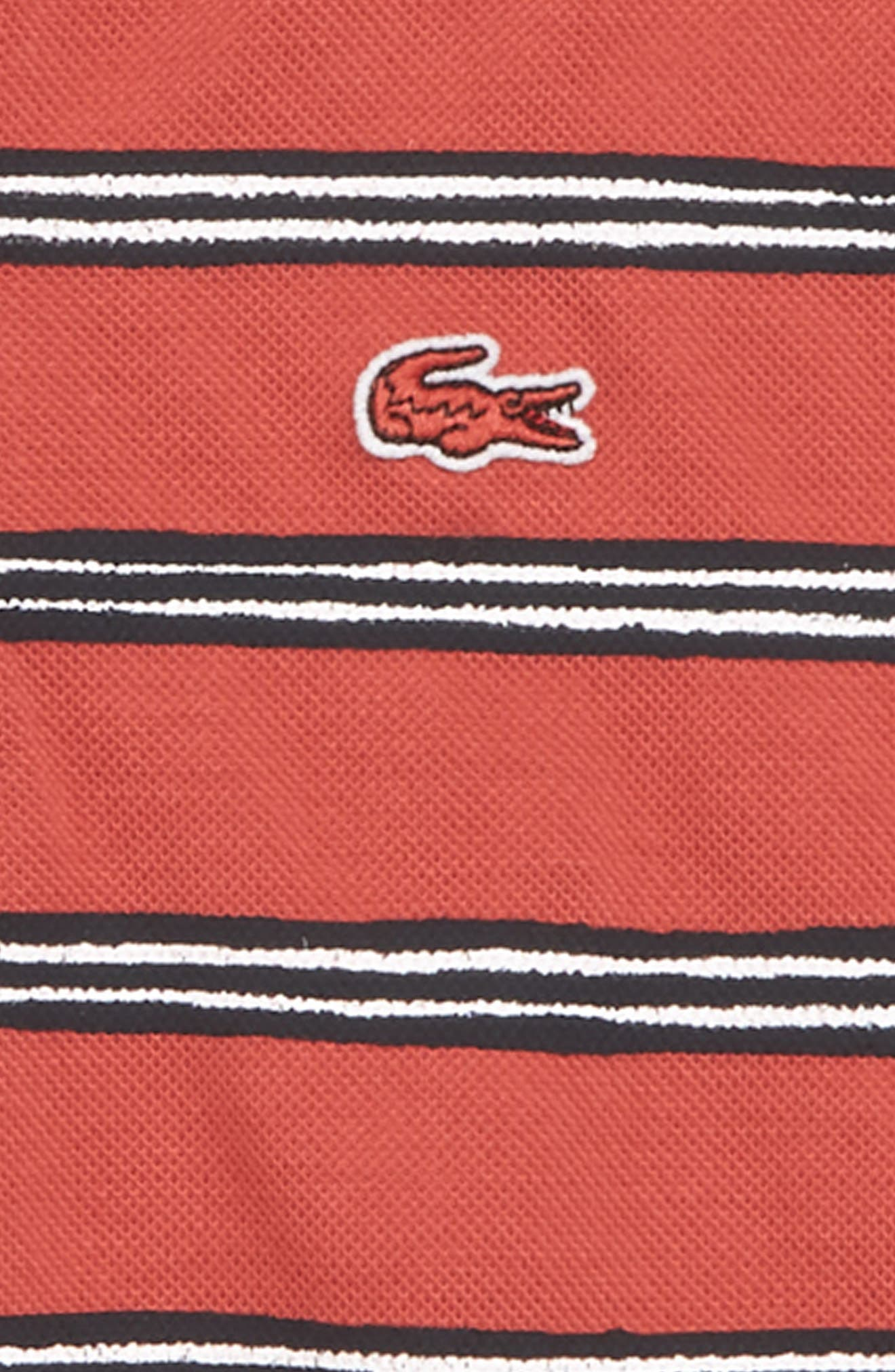 Stripe Piqué Polo,                             Alternate thumbnail 2, color,                             Sierra Red