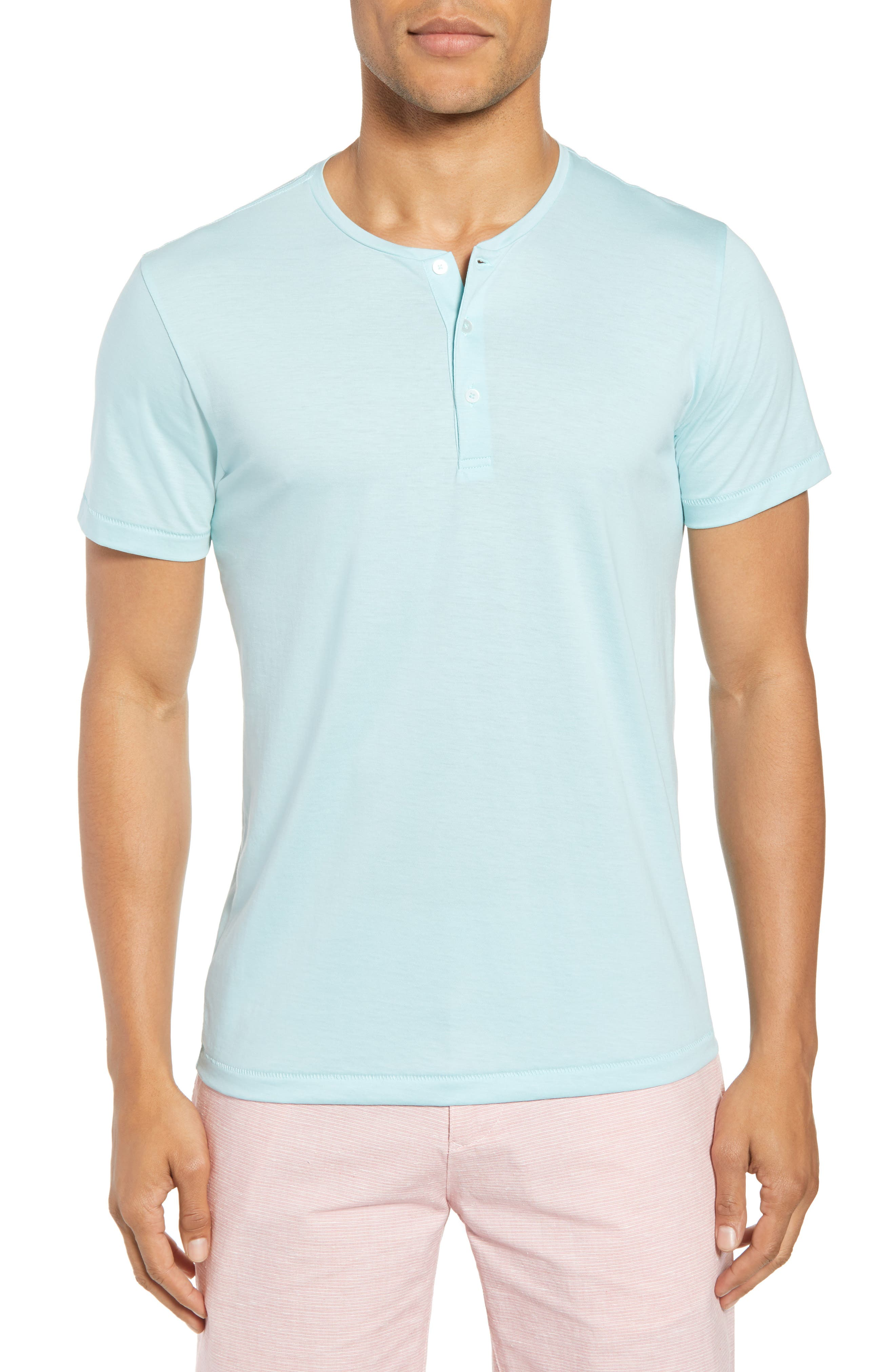 Superfine Henley T-Shirt,                         Main,                         color, Hockney Pool