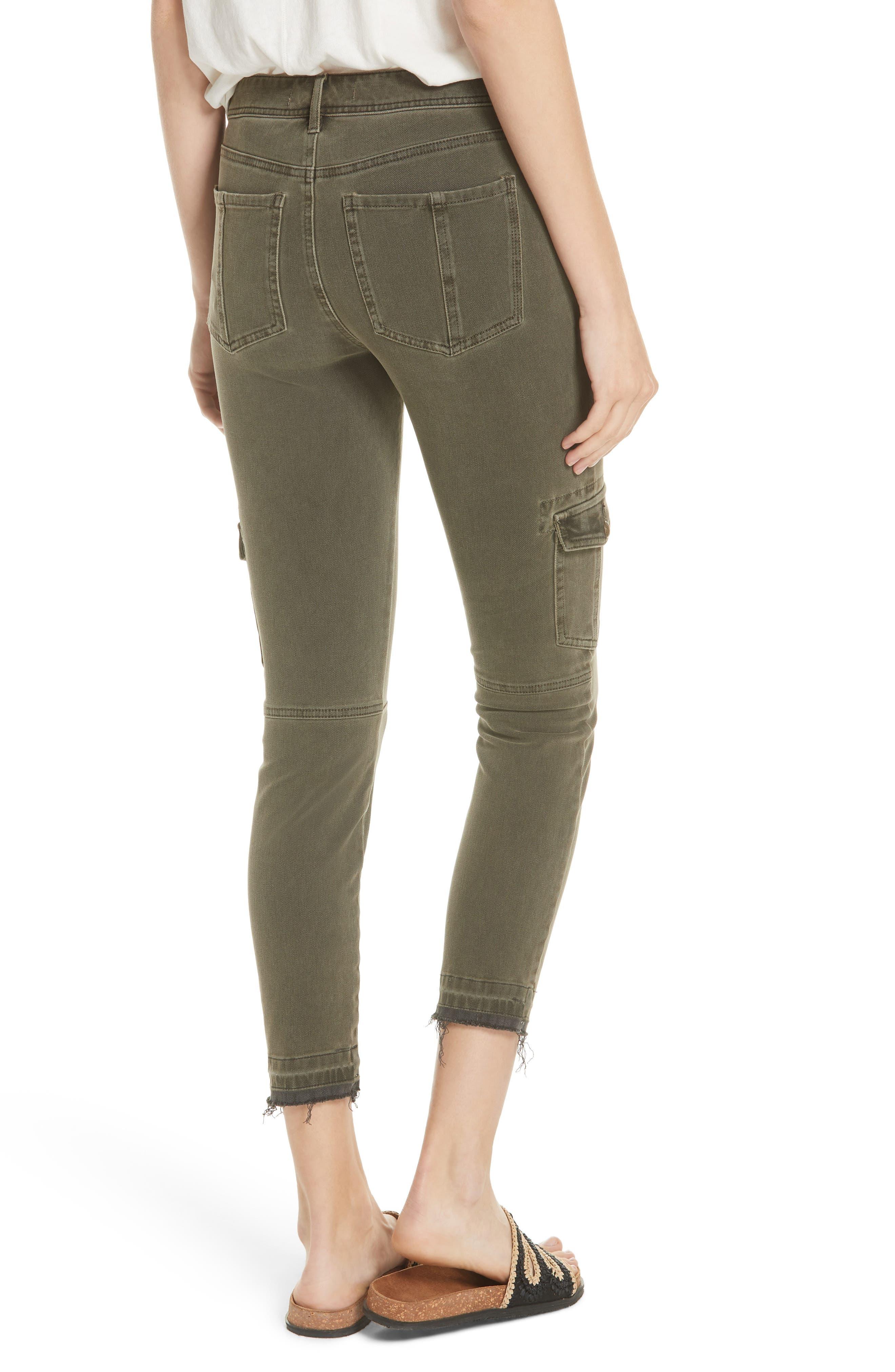 Utility Skinny Jeans,                             Alternate thumbnail 2, color,                             Moss