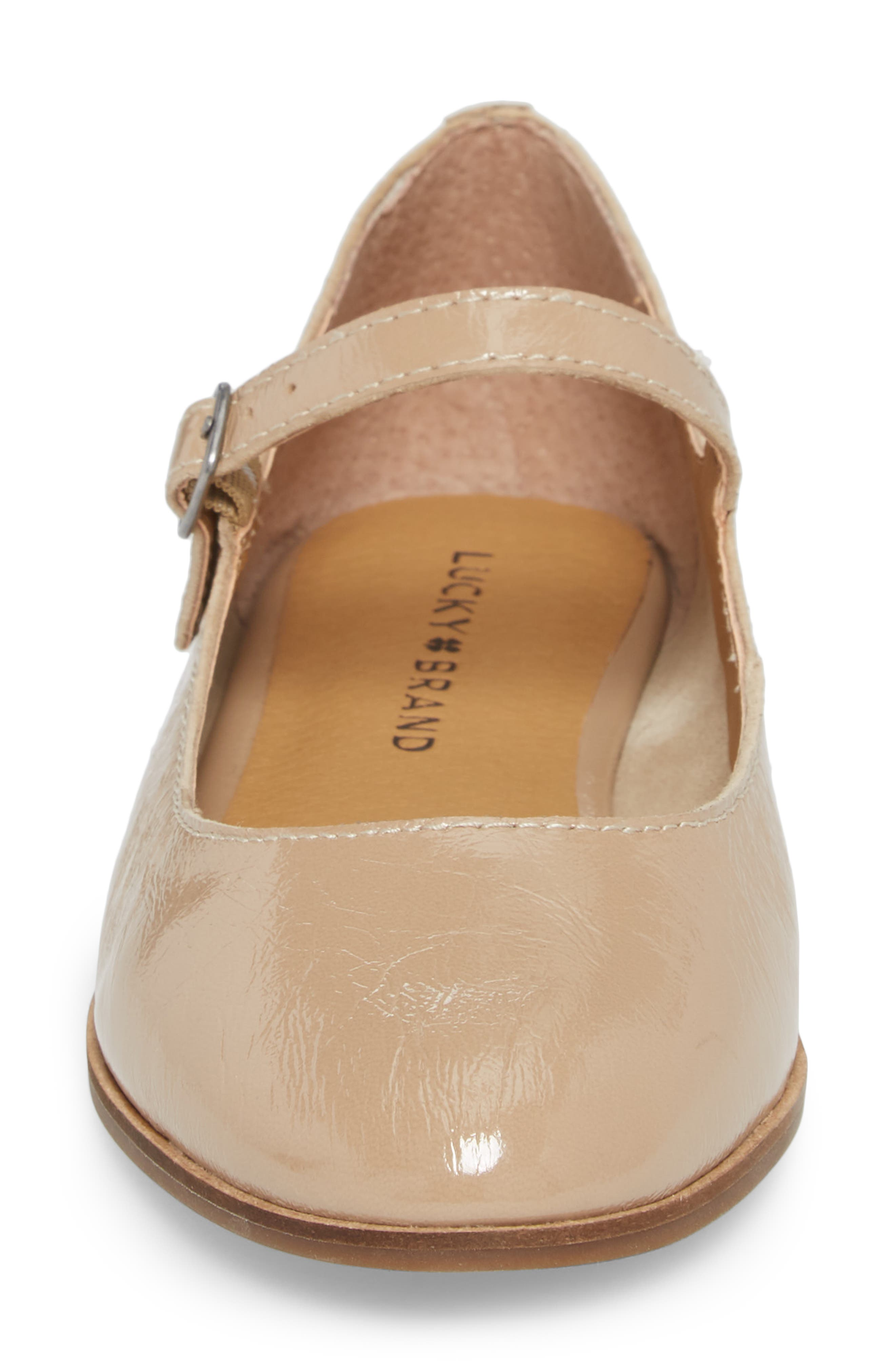 Ceentana Mary Jane Flat,                             Alternate thumbnail 4, color,                             Feather Leather