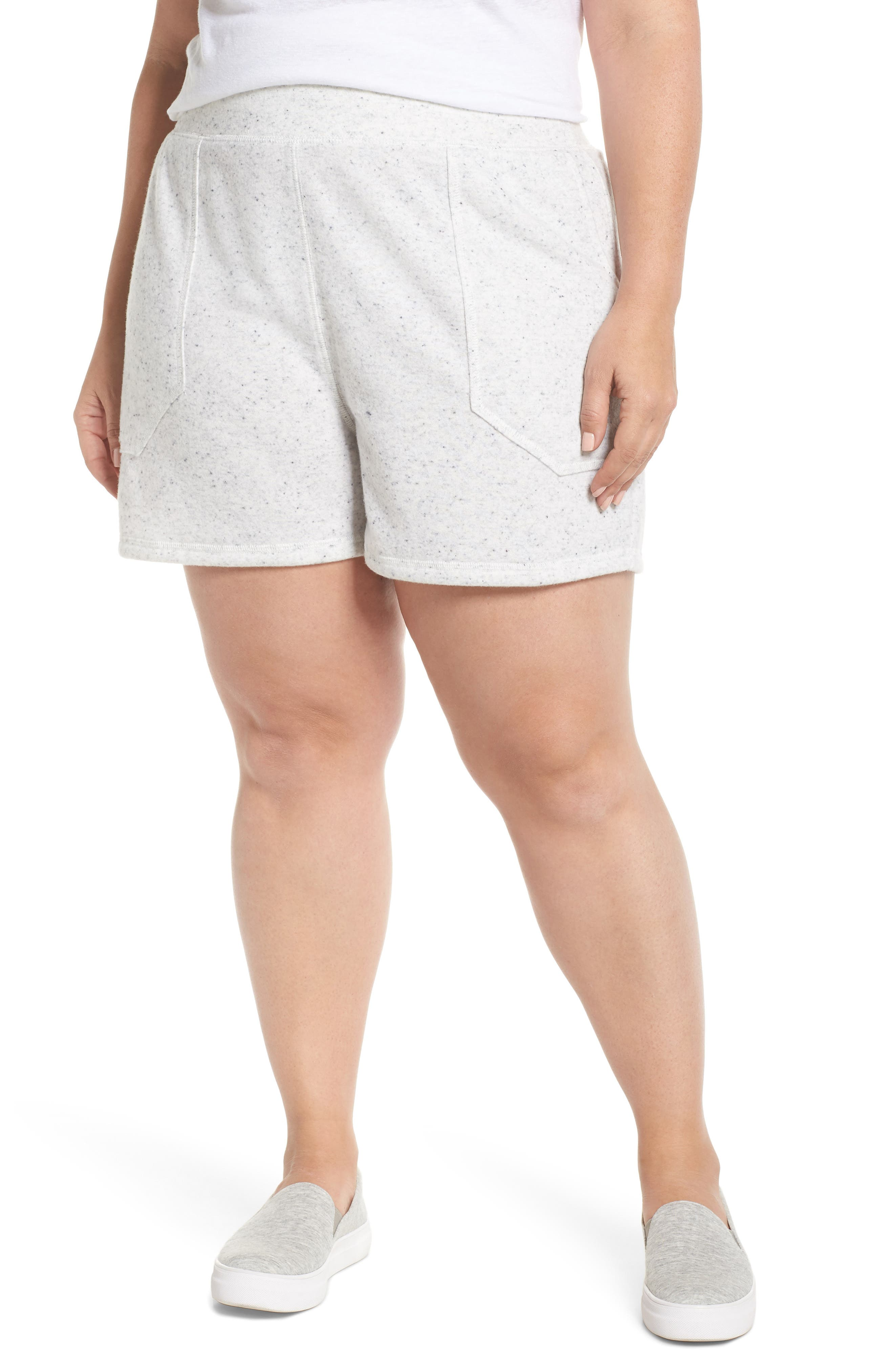 French Terry Shorts,                         Main,                         color, Grey Heather