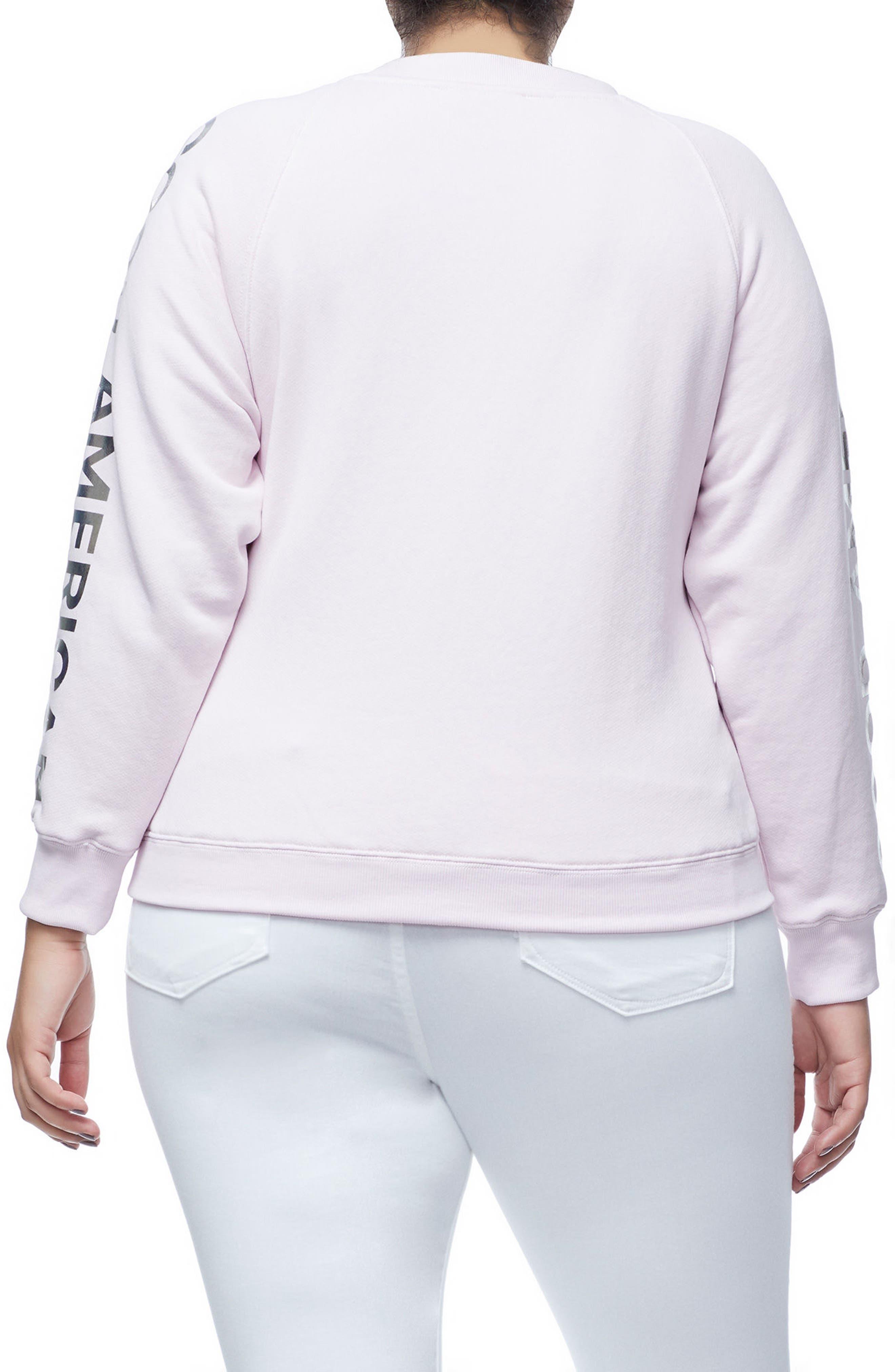 Crewneck Sweatshirt,                             Alternate thumbnail 4, color,                             Pink