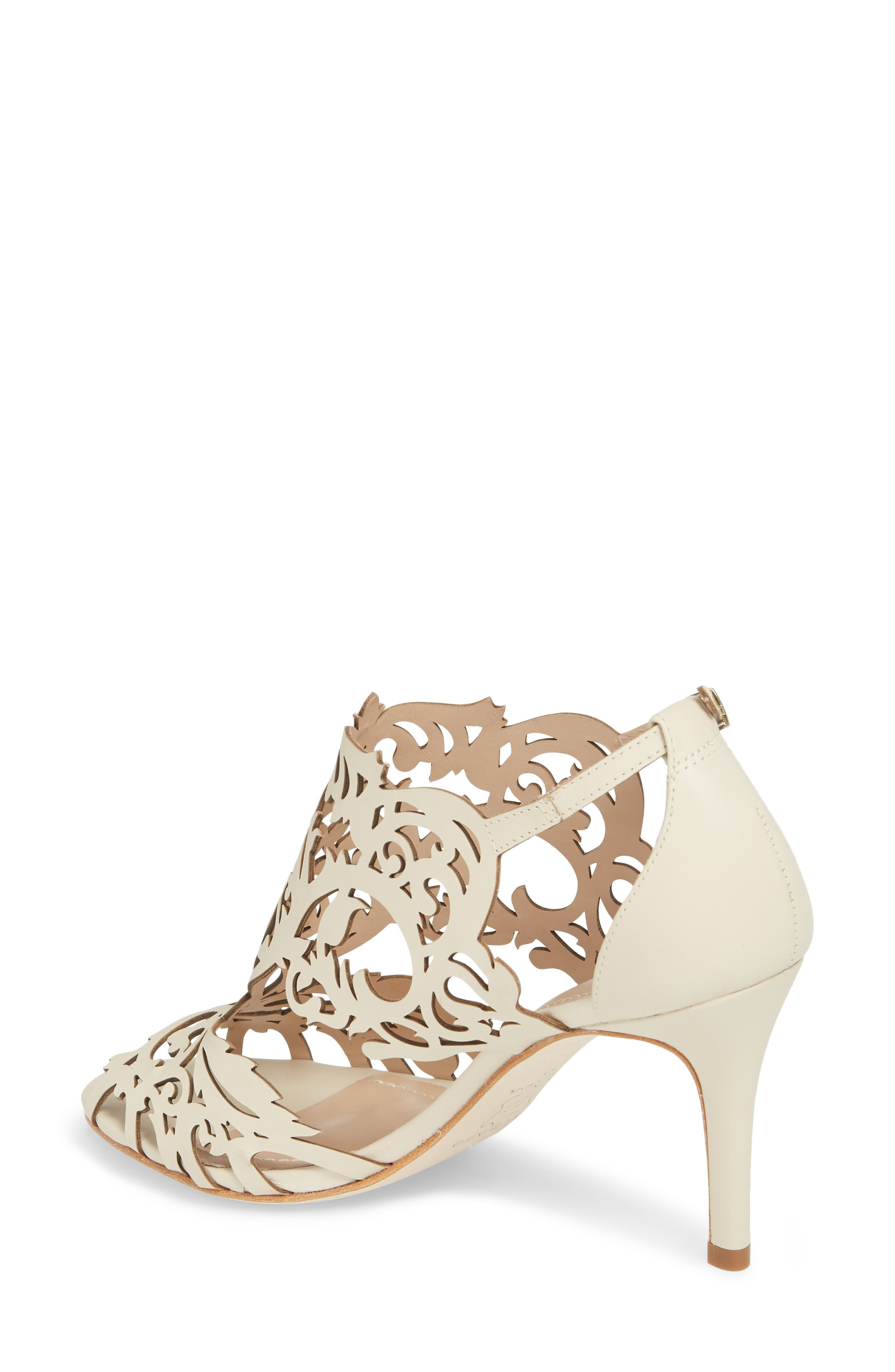 Marcela 3 Laser Cutout Sandal,                             Alternate thumbnail 2, color,                             Ivory Leather