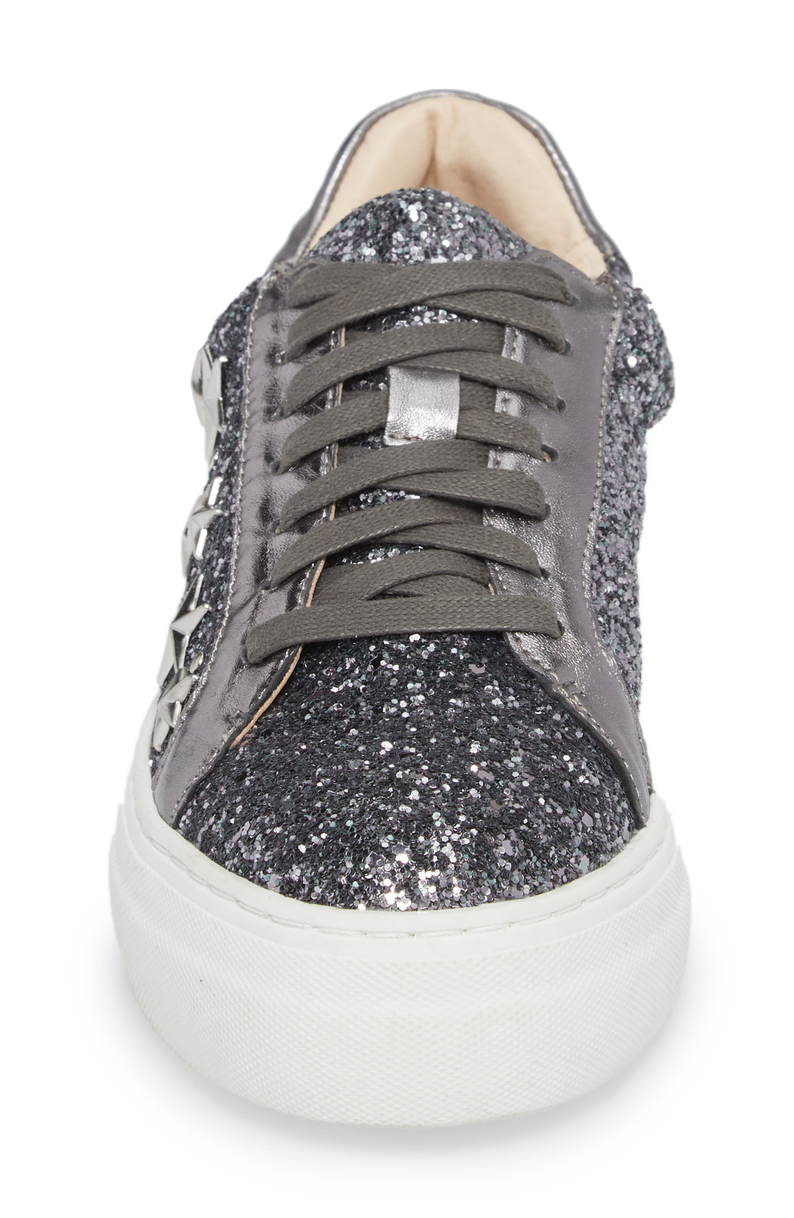 Active Star Platform Sneaker,                             Alternate thumbnail 4, color,                             Pewter Glitter