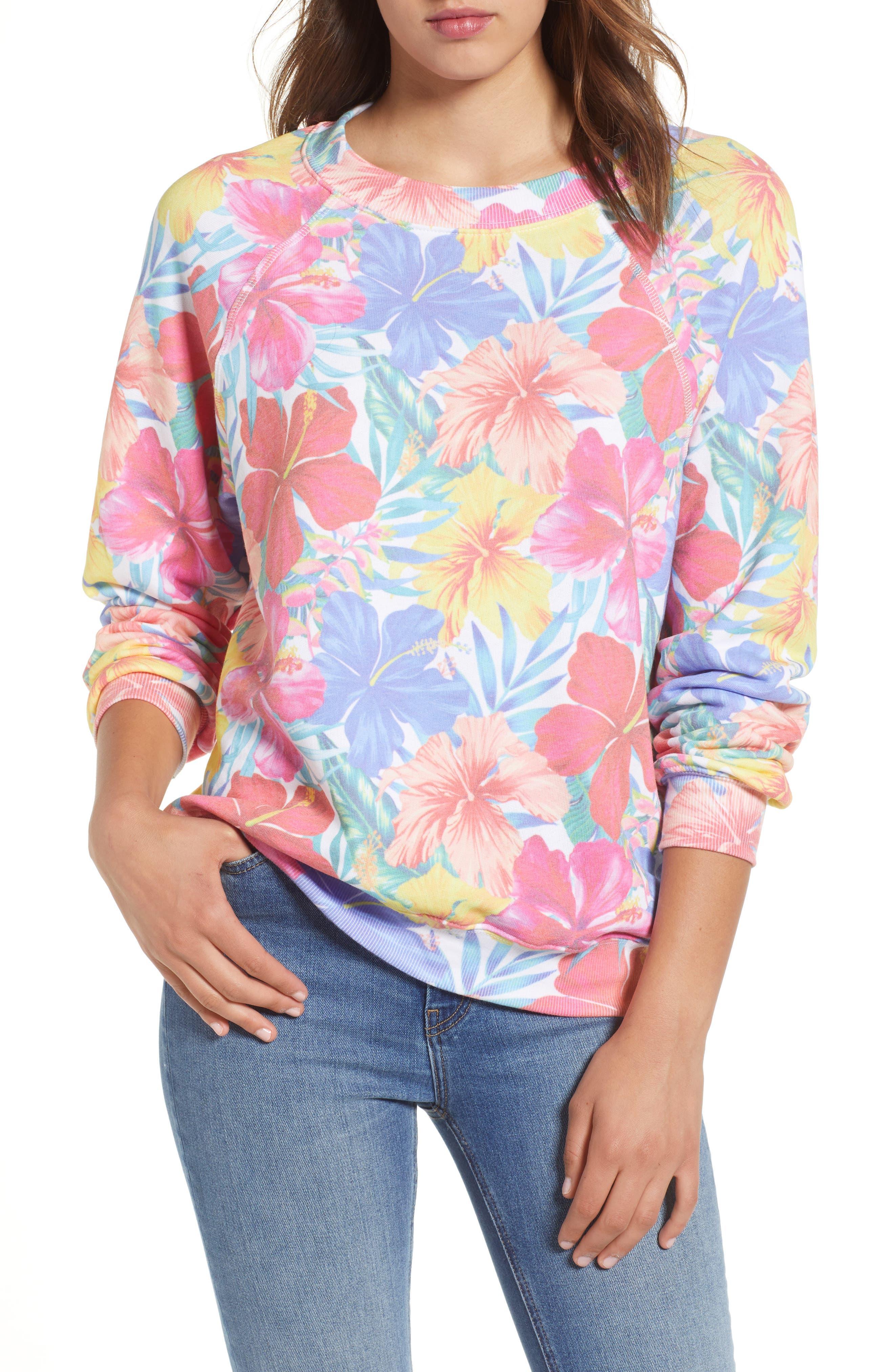 Tropicalia Sommers Sweatshirt,                             Main thumbnail 1, color,                             Multi Colored