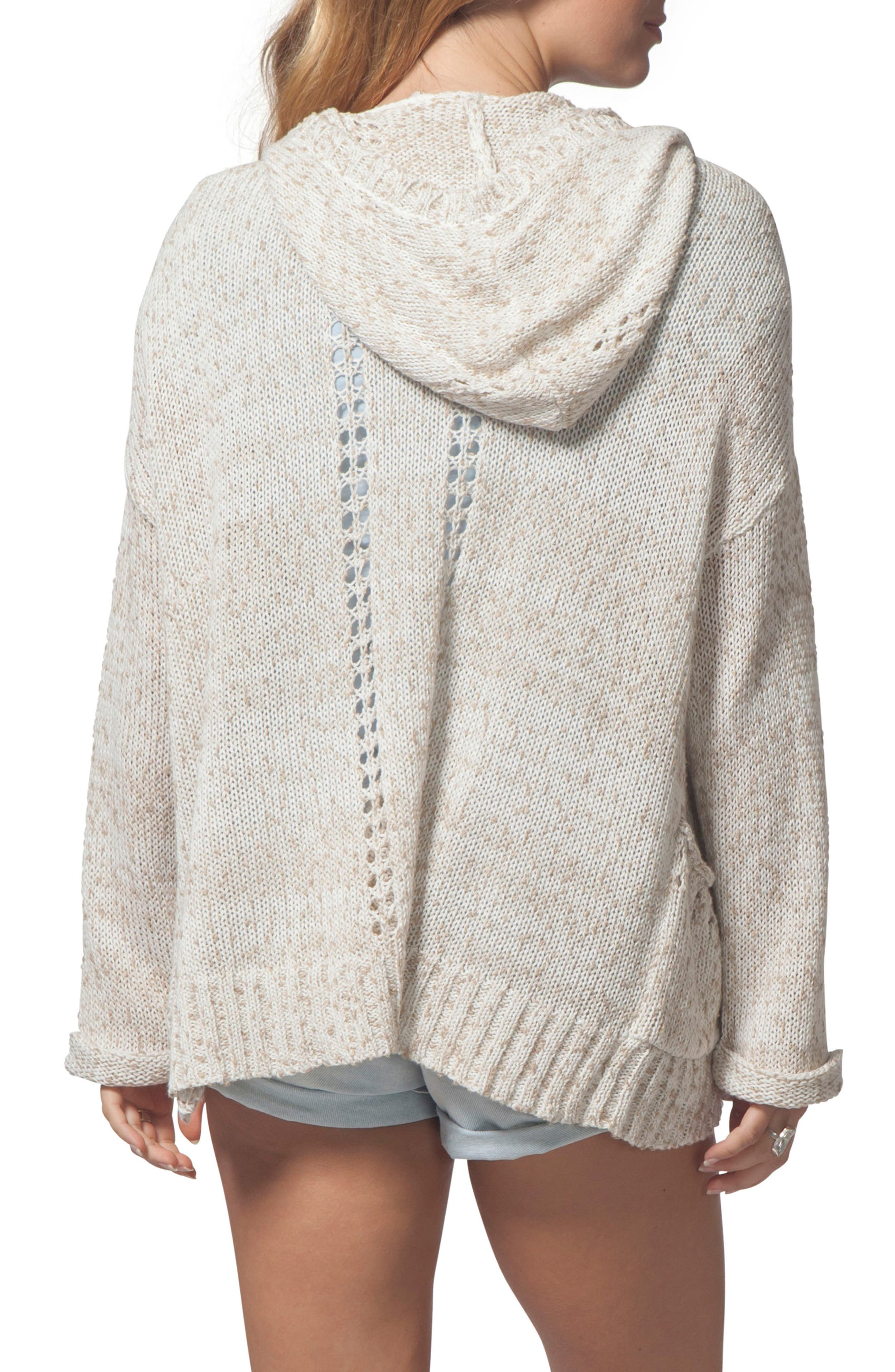 Swing By Hooded Cardigan,                             Alternate thumbnail 2, color,                             Natural