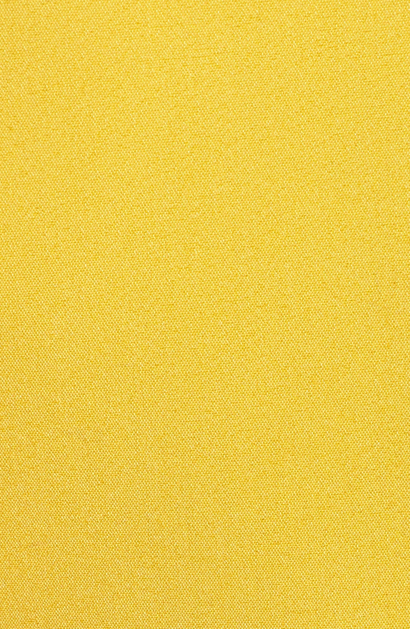 Ruffle Trim Sheath Dress,                             Alternate thumbnail 6, color,                             Yellow Tea