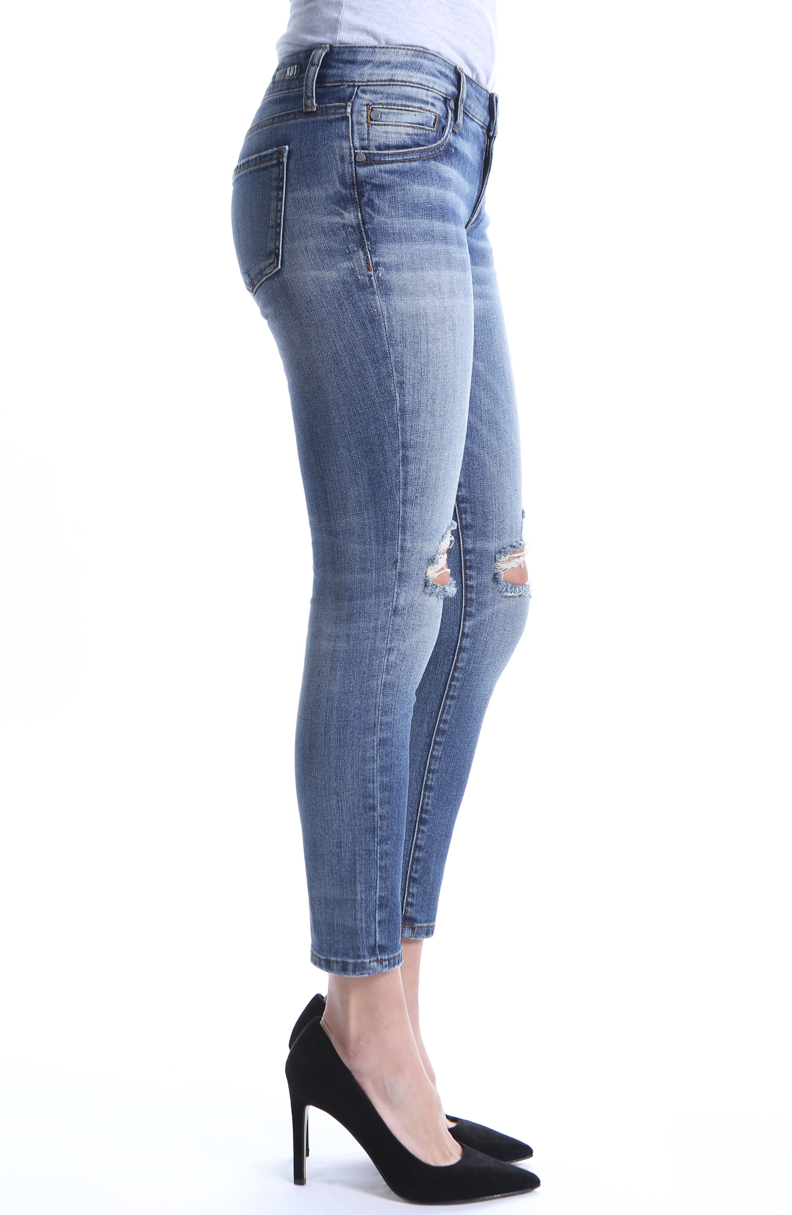 Catherine Ripped Straight Leg Ankle Jeans,                             Alternate thumbnail 3, color,                             Increase