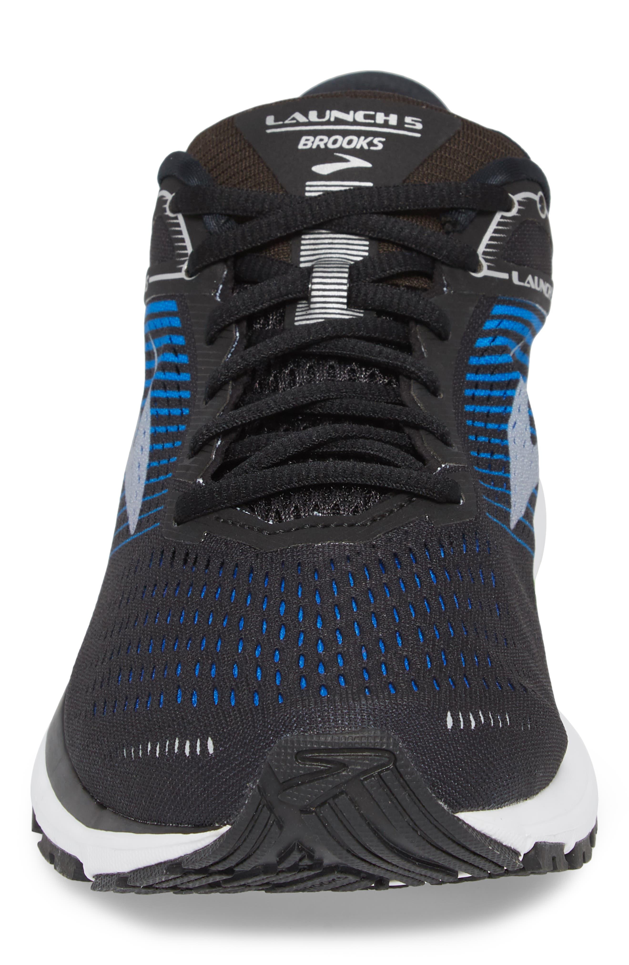 Launch 5 Running Shoe,                             Alternate thumbnail 4, color,                             Black/ Blue/ Green