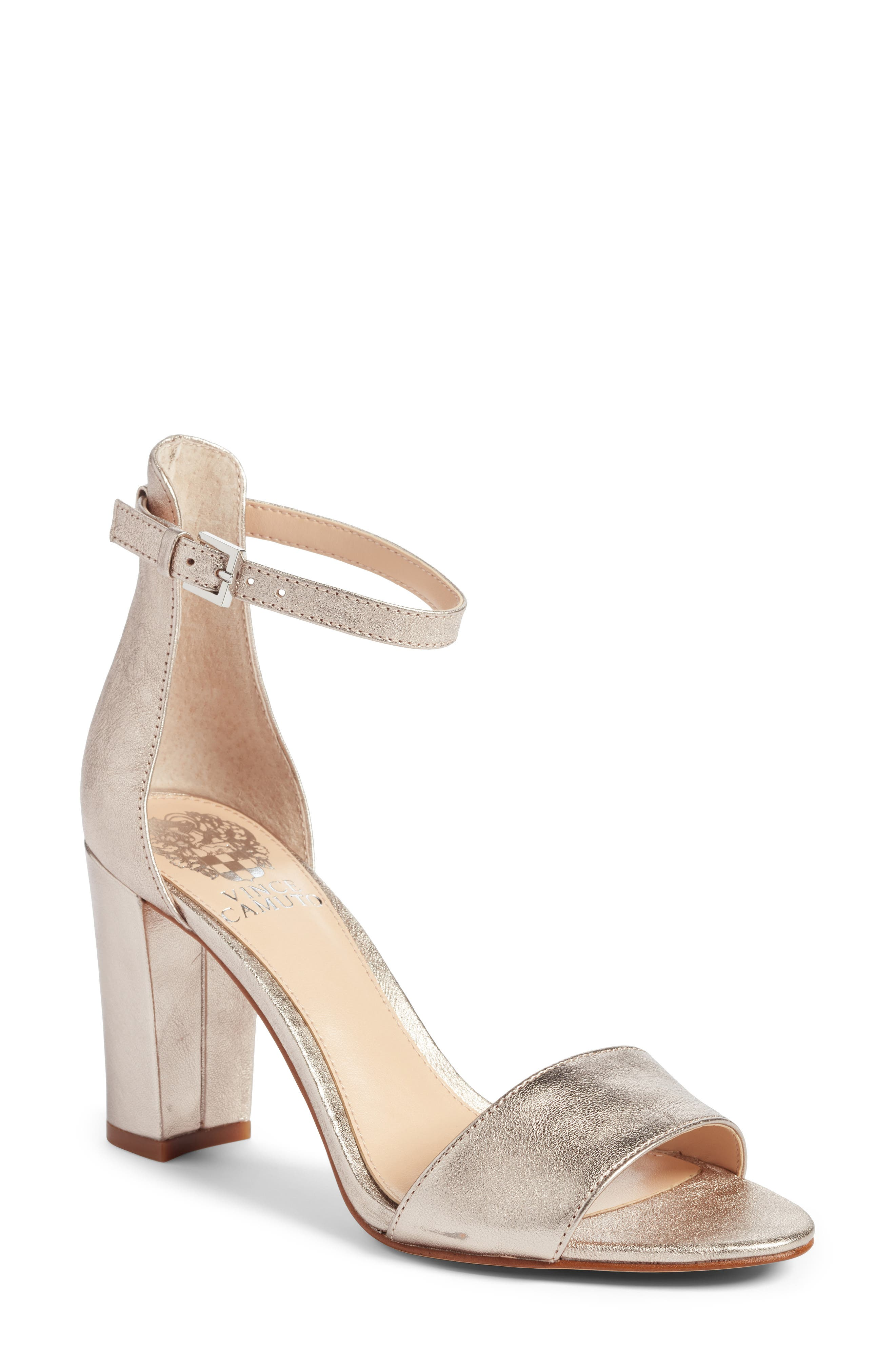 Corlina Ankle Strap Sandal,                         Main,                         color, Rose/ Rose/ Silver Fabric