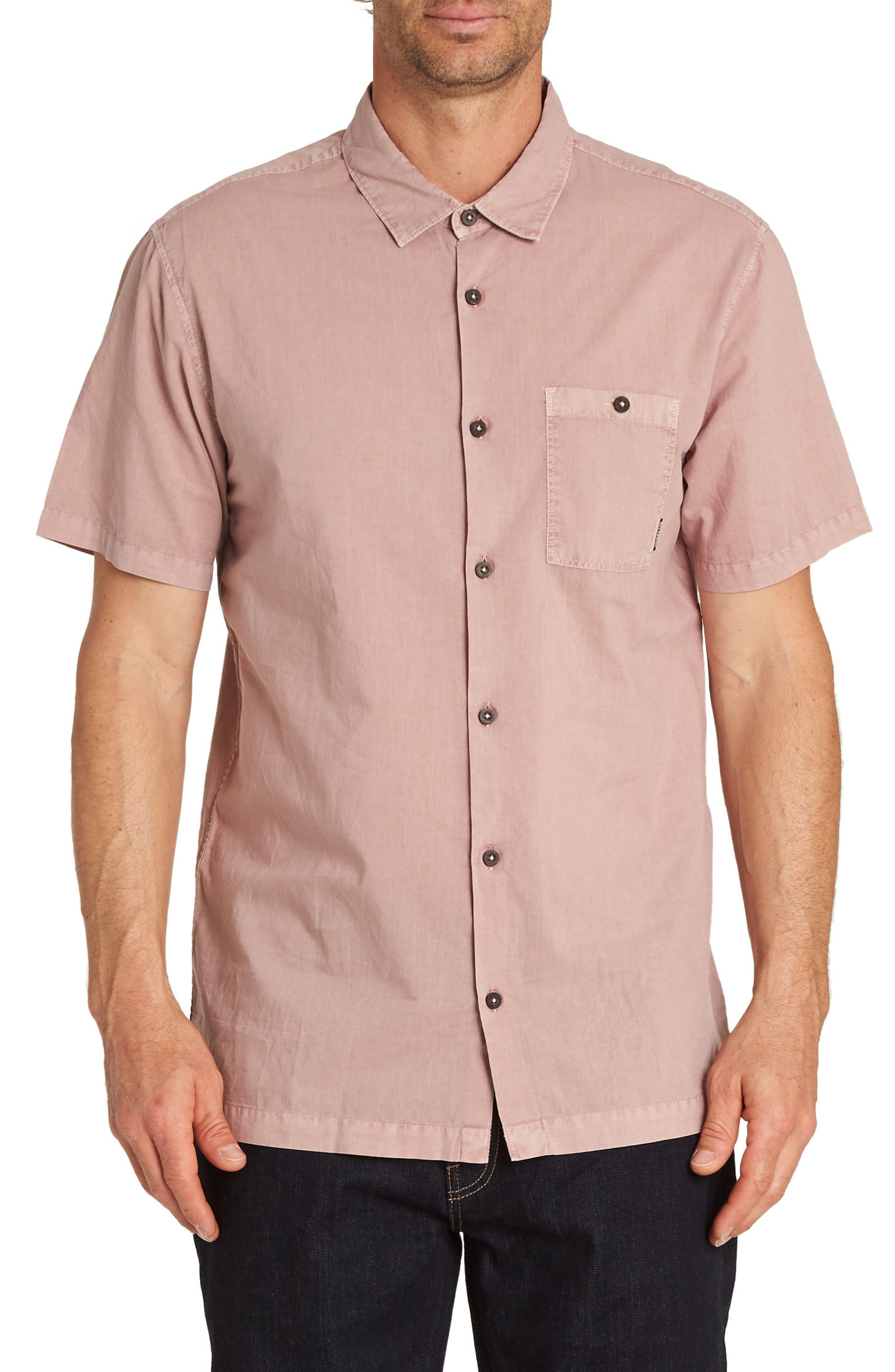 Wave Washed Woven Shirt,                         Main,                         color, Pink Haze