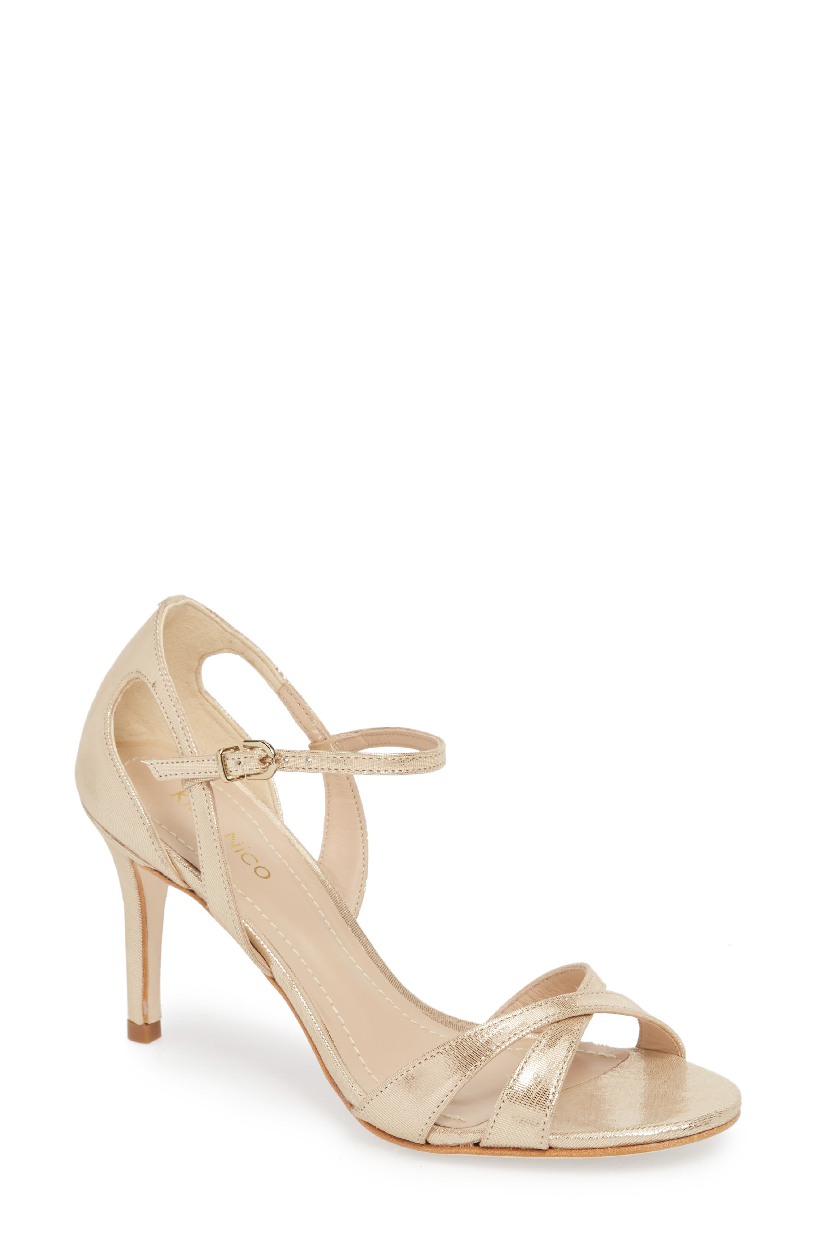 Alexa Sandal,                         Main,                         color, Champagne Leather
