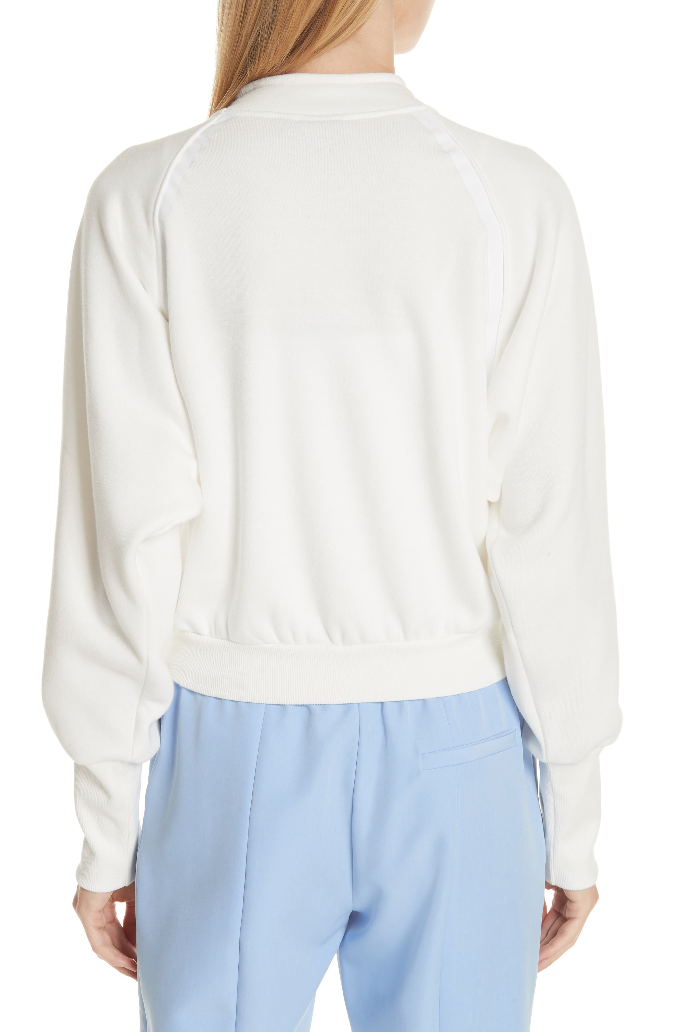Graphic Half Zip Pullover,                             Alternate thumbnail 2, color,                             White