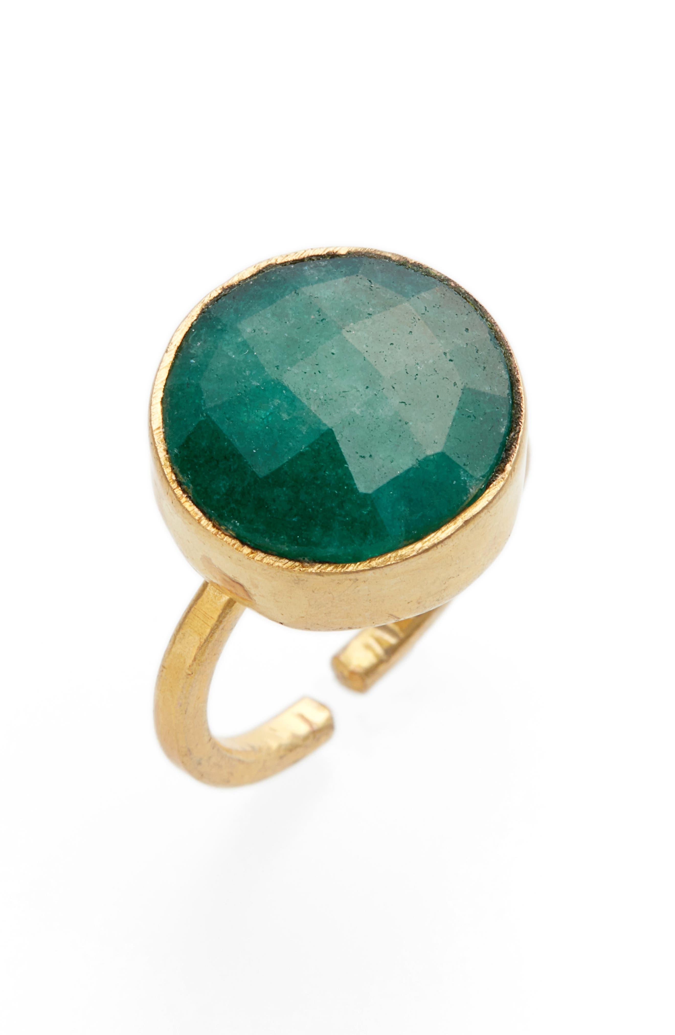 Burma Green Onyx Ring,                             Main thumbnail 1, color,                             Gold/ Green Onyx