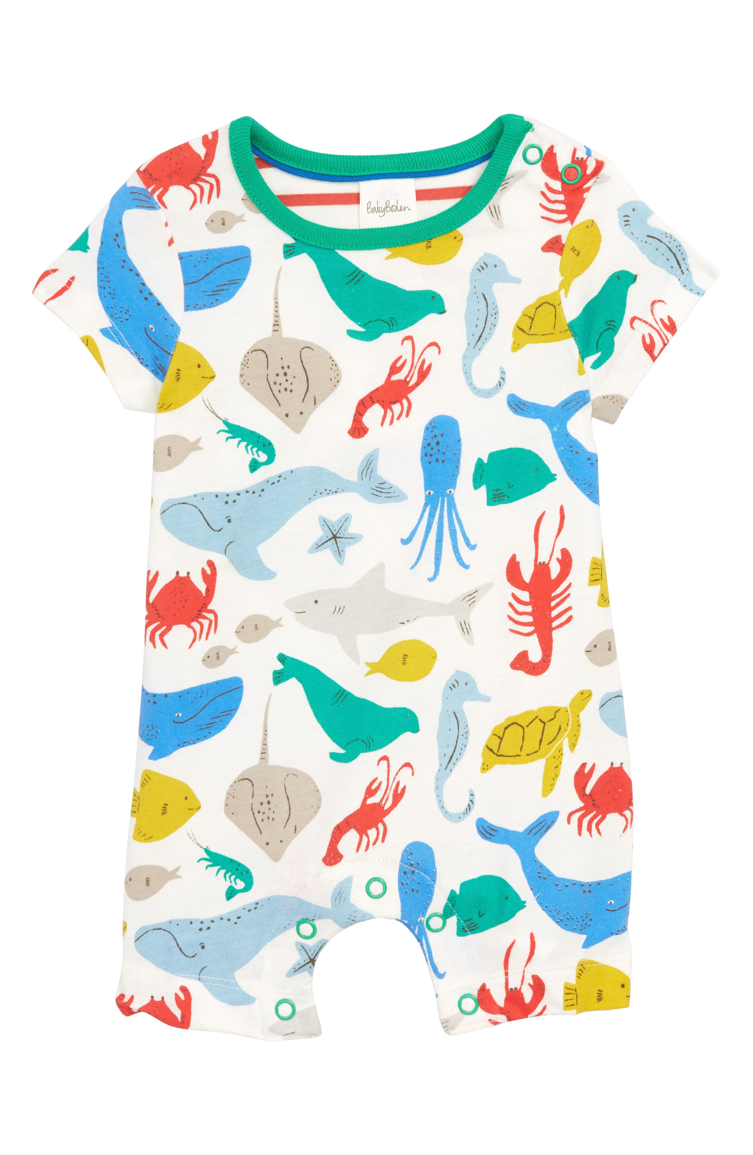Under the Sea Romper,                             Main thumbnail 1, color,                             Under The Sea
