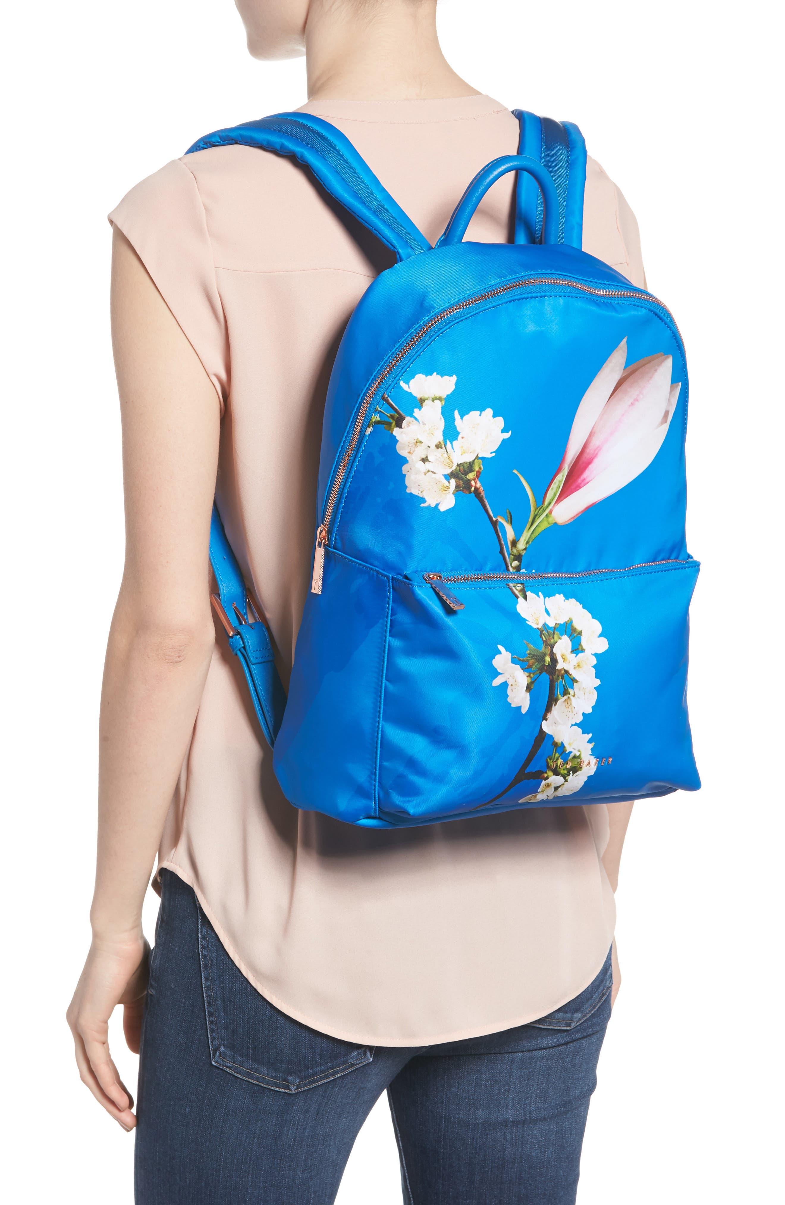 Harmony Print Backpack,                             Alternate thumbnail 2, color,                             Bright Blue