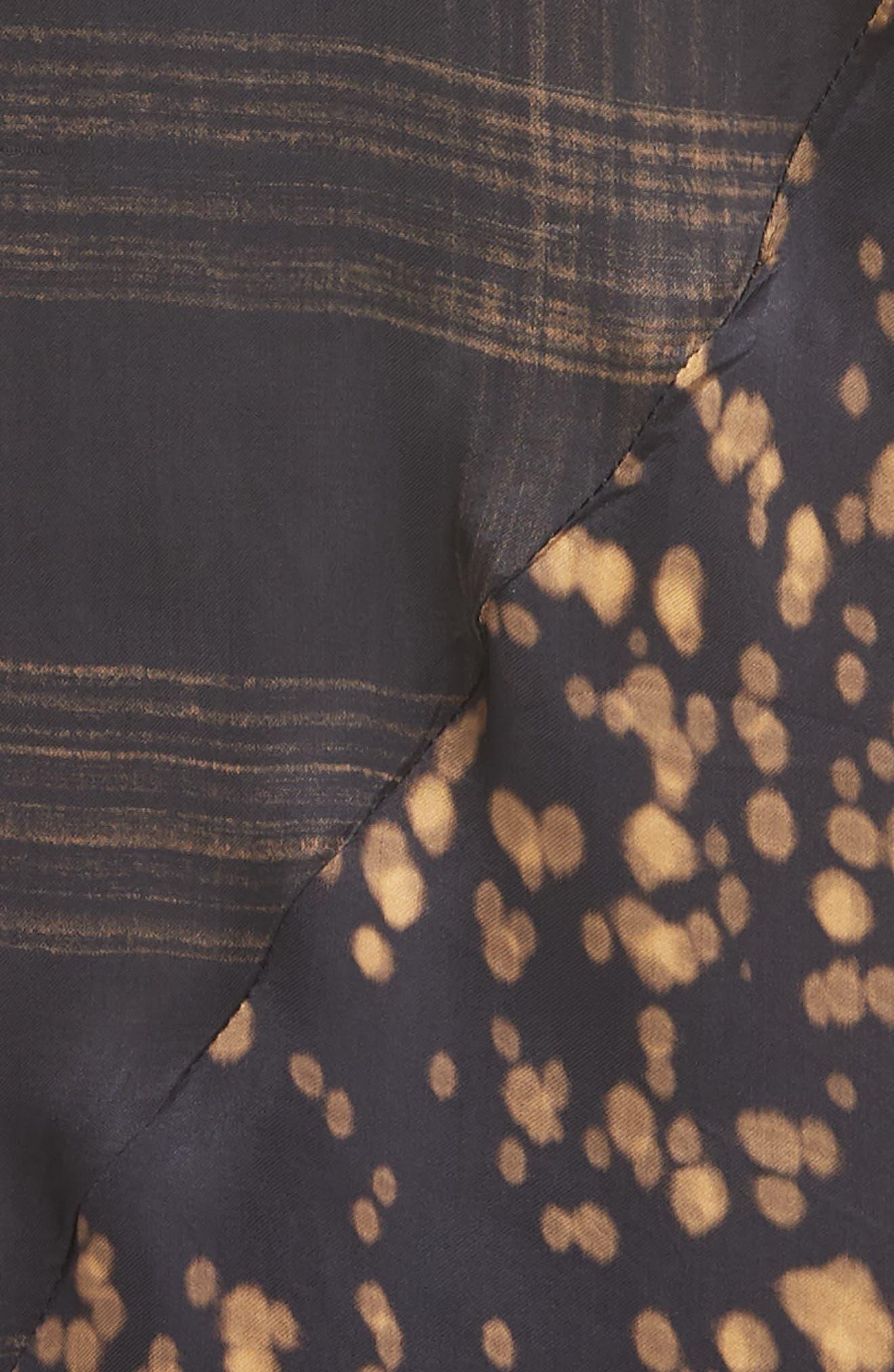 Gambetta Printed Midi Dress,                             Alternate thumbnail 5, color,                             Black Mix
