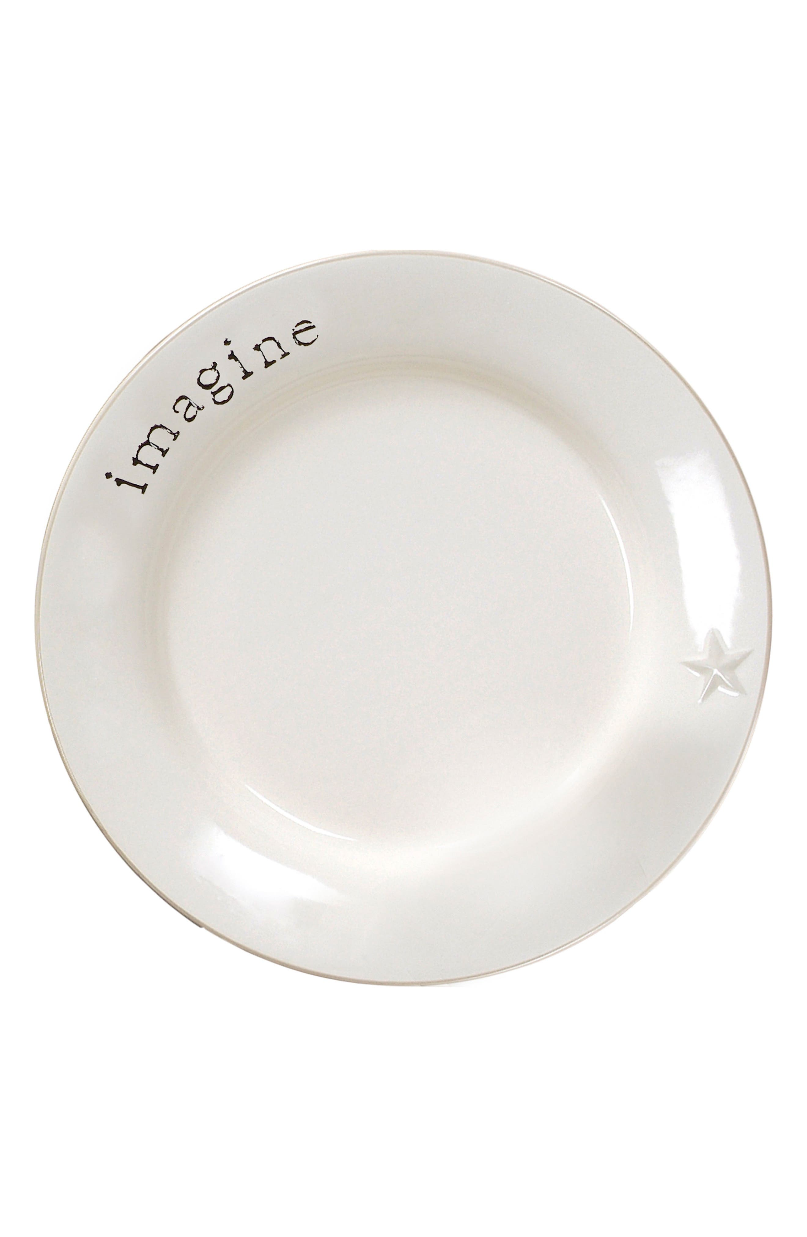 Word Expressions Dinner Plate,                             Main thumbnail 1, color,                             White