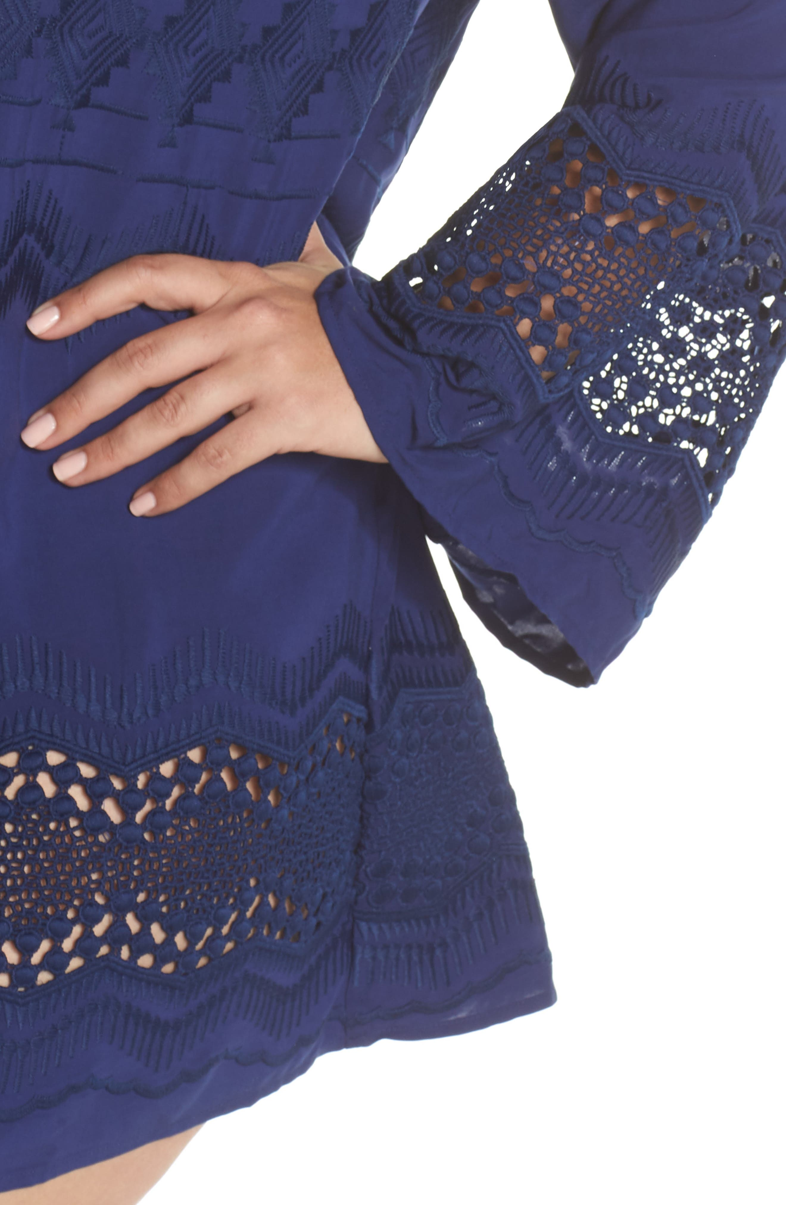 Cover-Up Tunic,                             Alternate thumbnail 4, color,                             Midnight