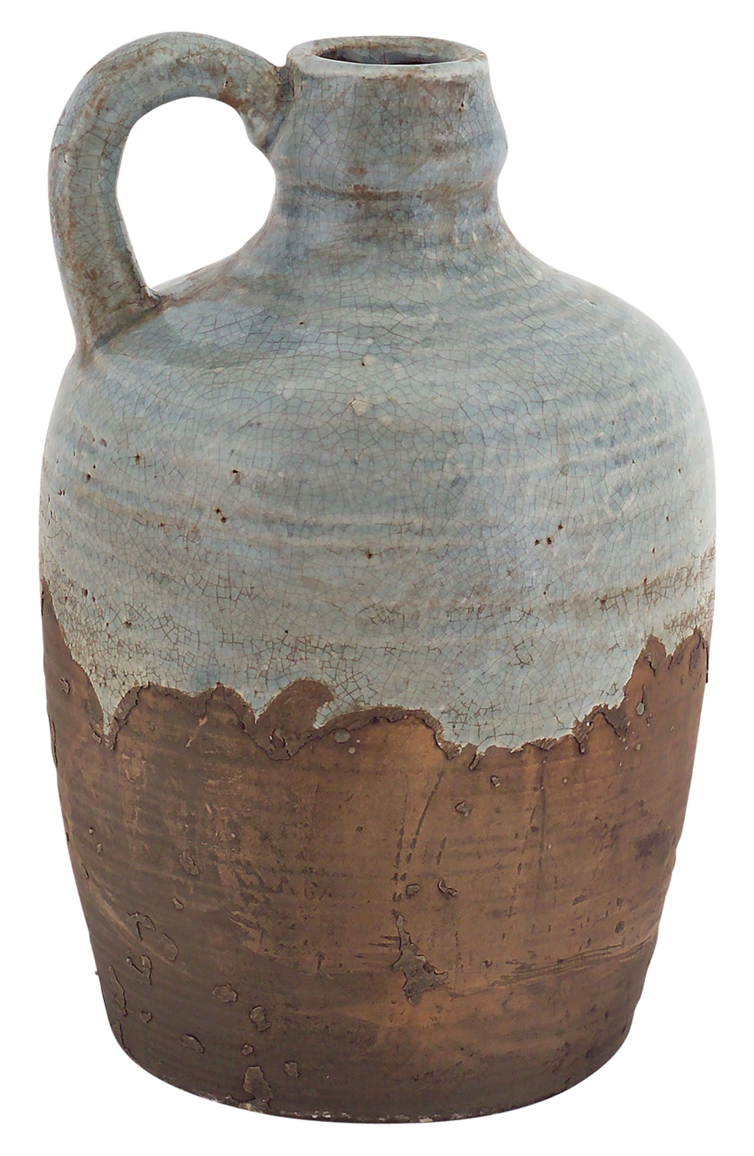 Stoneware Rustic Jar with Handle,                         Main,                         color, Blue