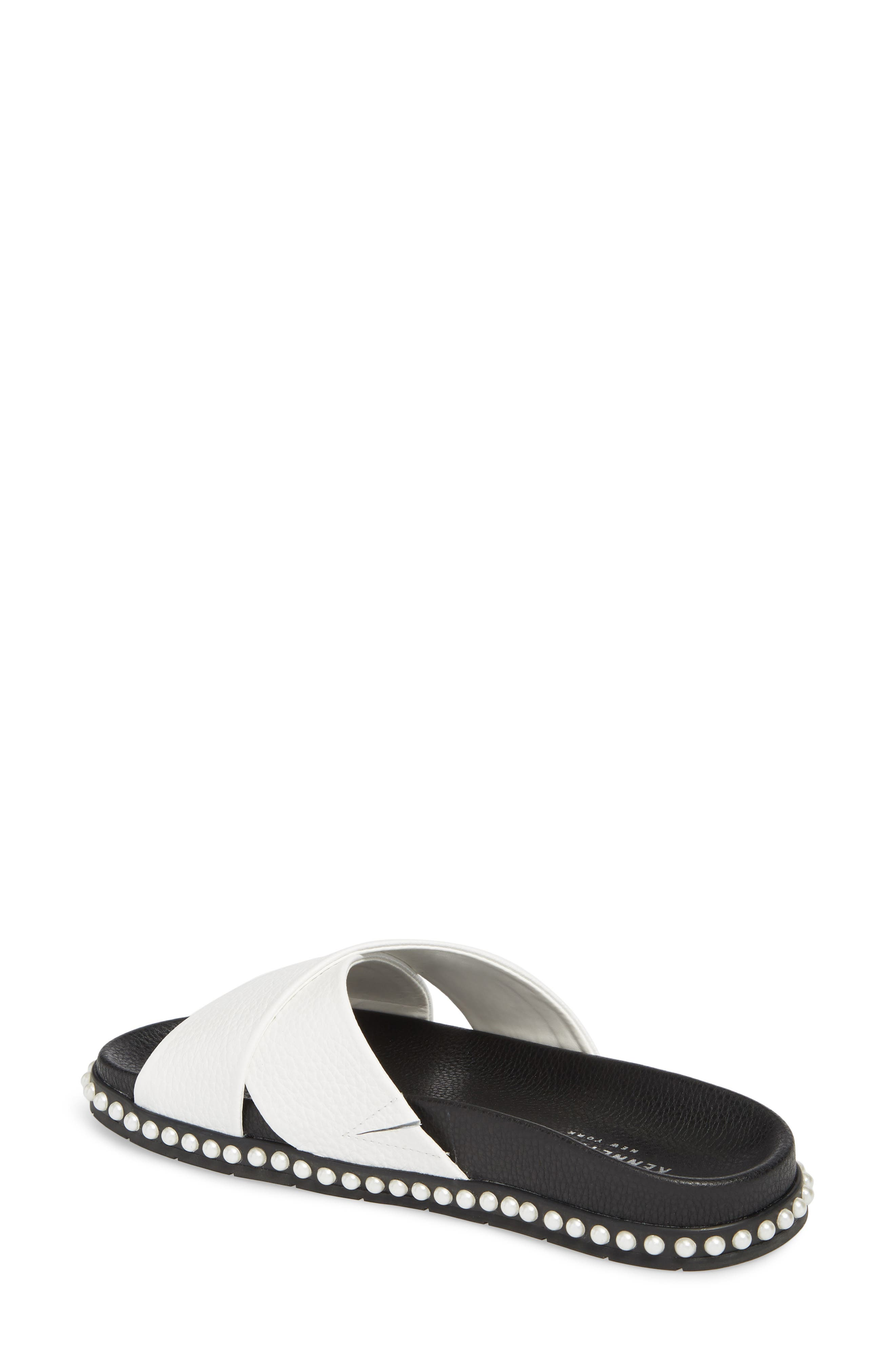 Xiomana Slide Sandal,                             Alternate thumbnail 2, color,                             White Leather