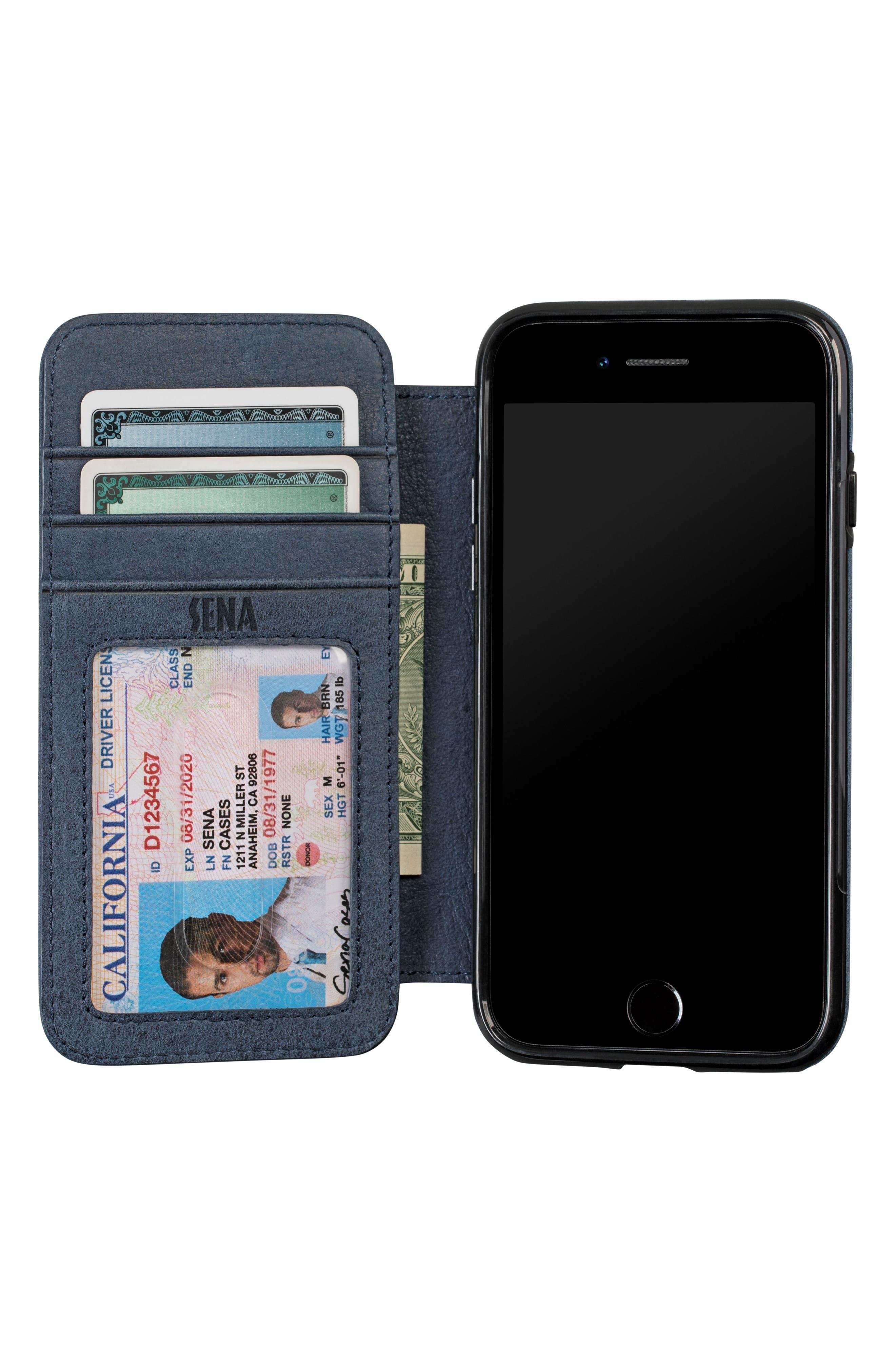 Bence iPhone 7/8 Walletbook,                             Alternate thumbnail 3, color,                             Denim