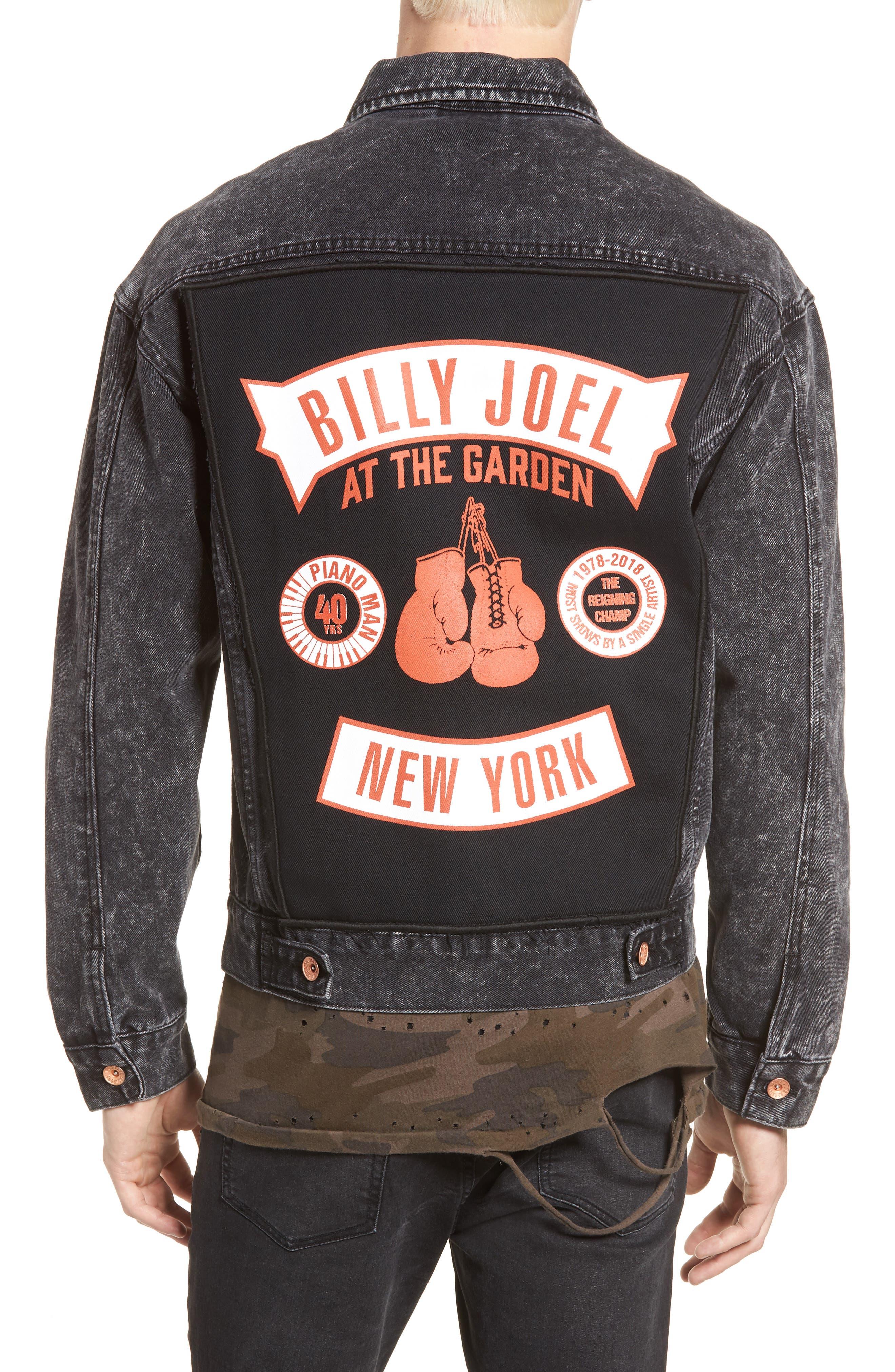 Billy Joel At the Garden Denim Jacket,                             Alternate thumbnail 2, color,                             Black Acid