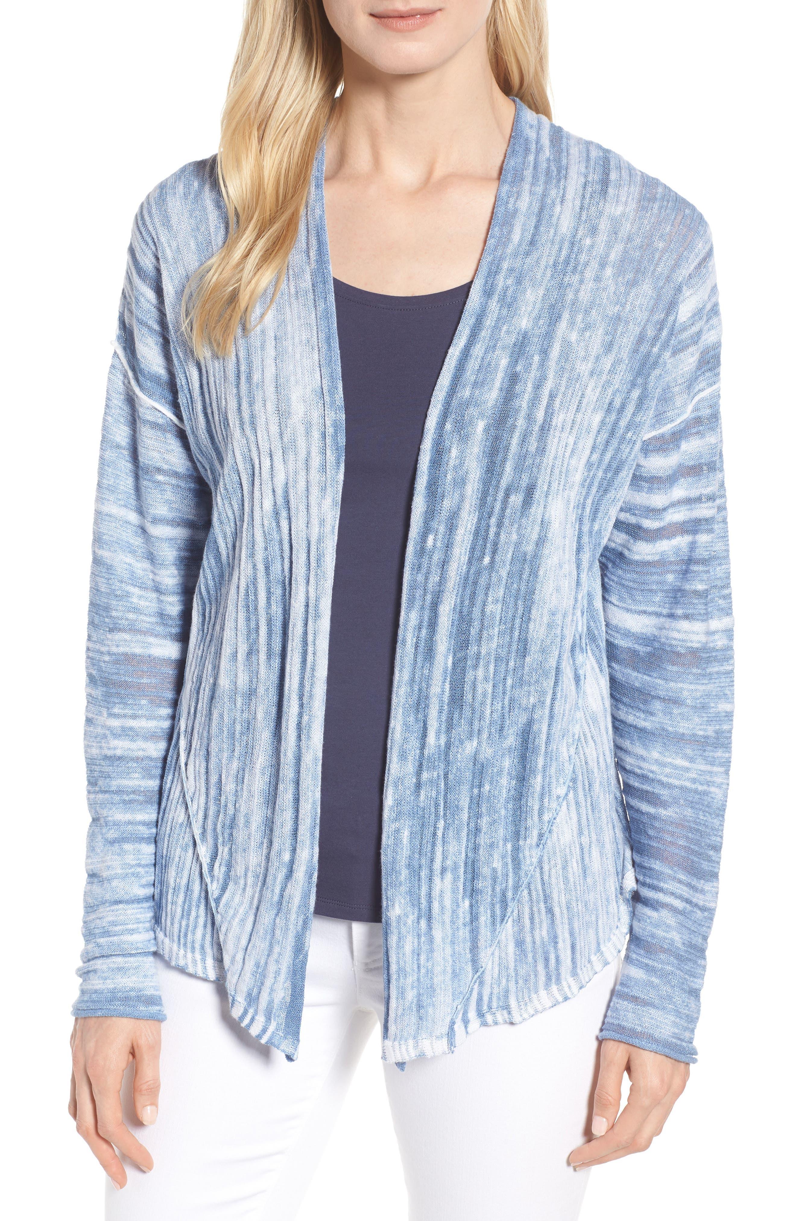 Open Breeze Cardigan,                         Main,                         color, Blue Haze