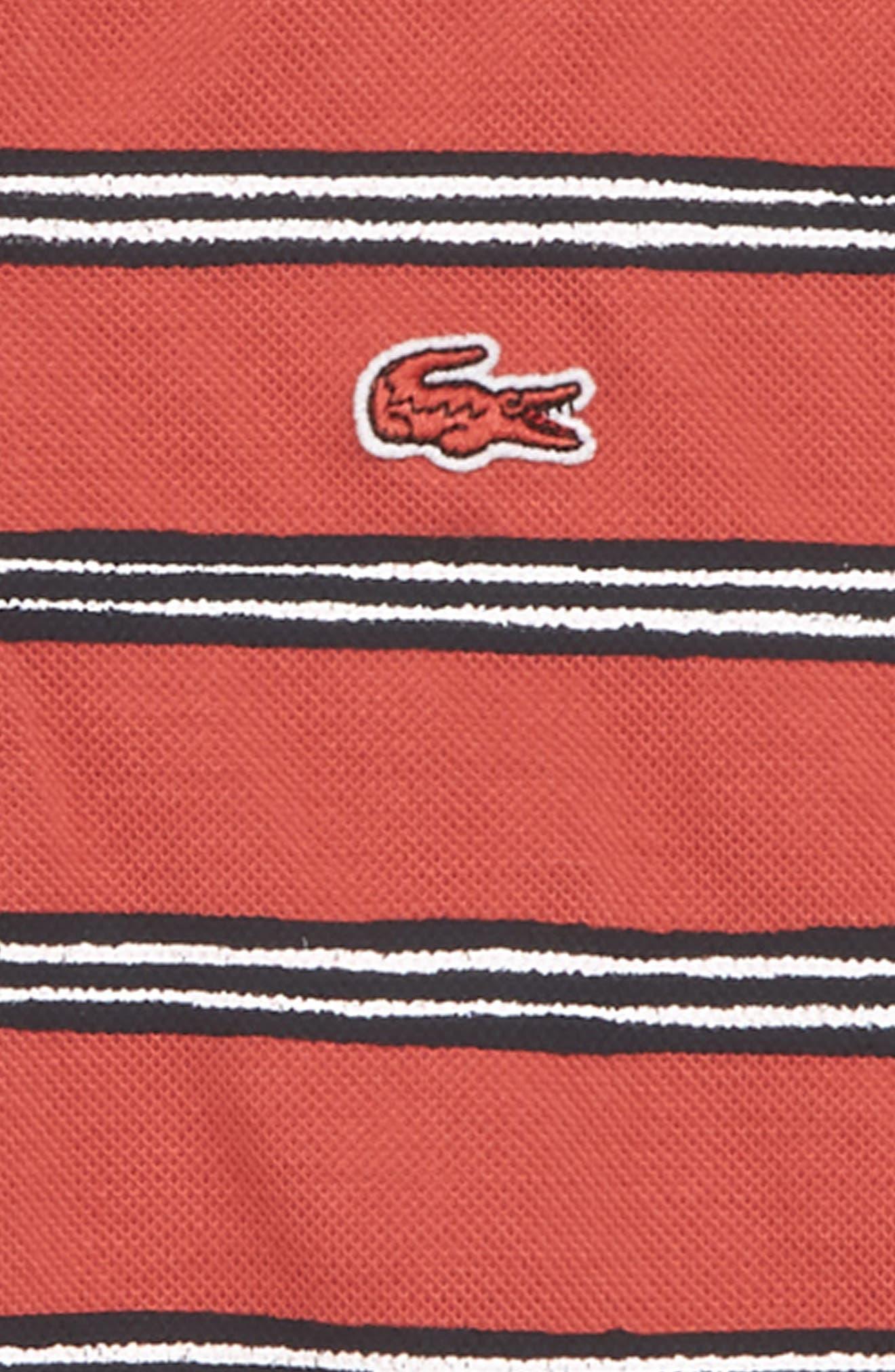 Stripe Polo,                             Alternate thumbnail 2, color,                             Sierra Red