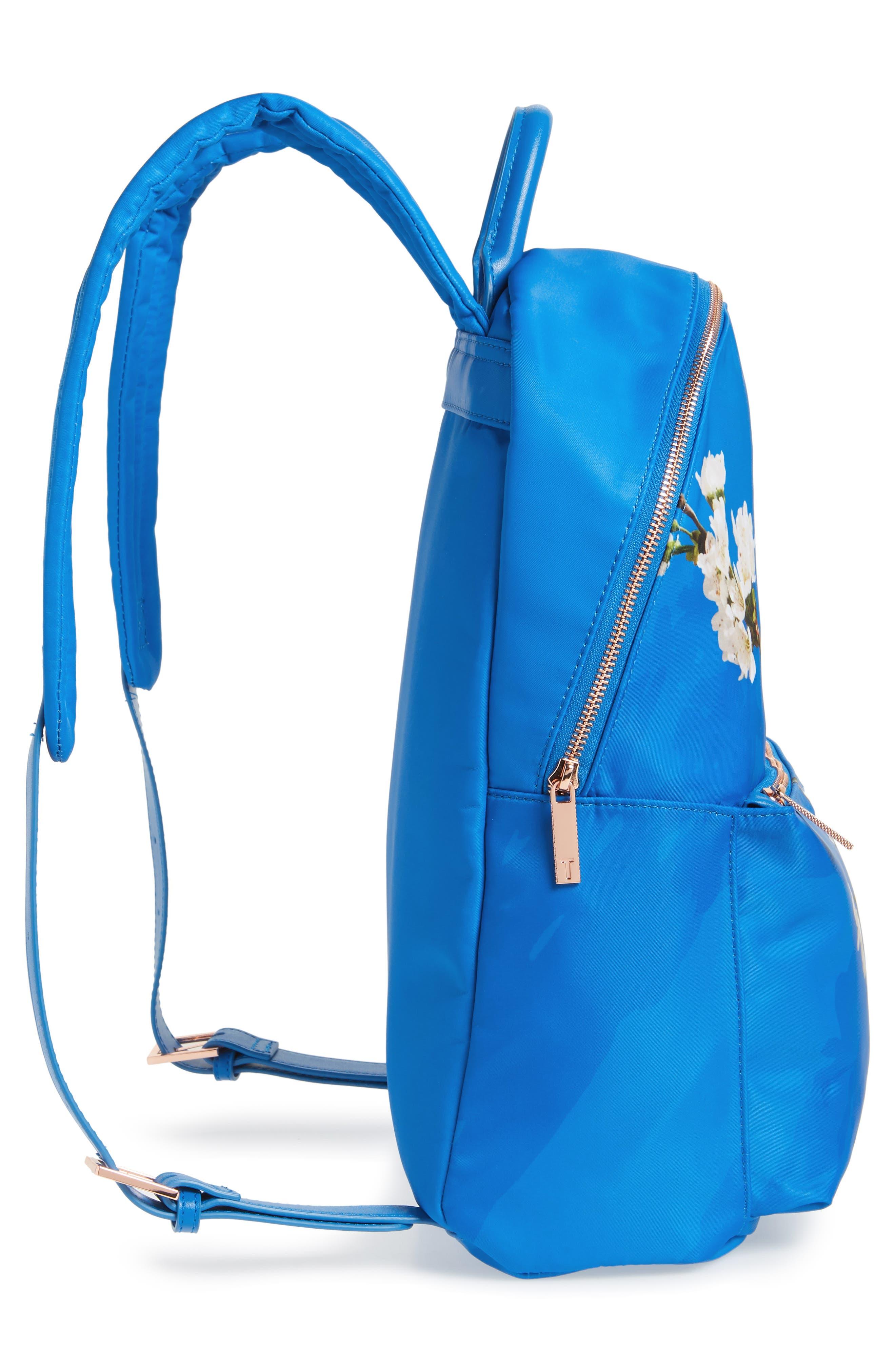 Harmony Print Backpack,                             Alternate thumbnail 5, color,                             Bright Blue